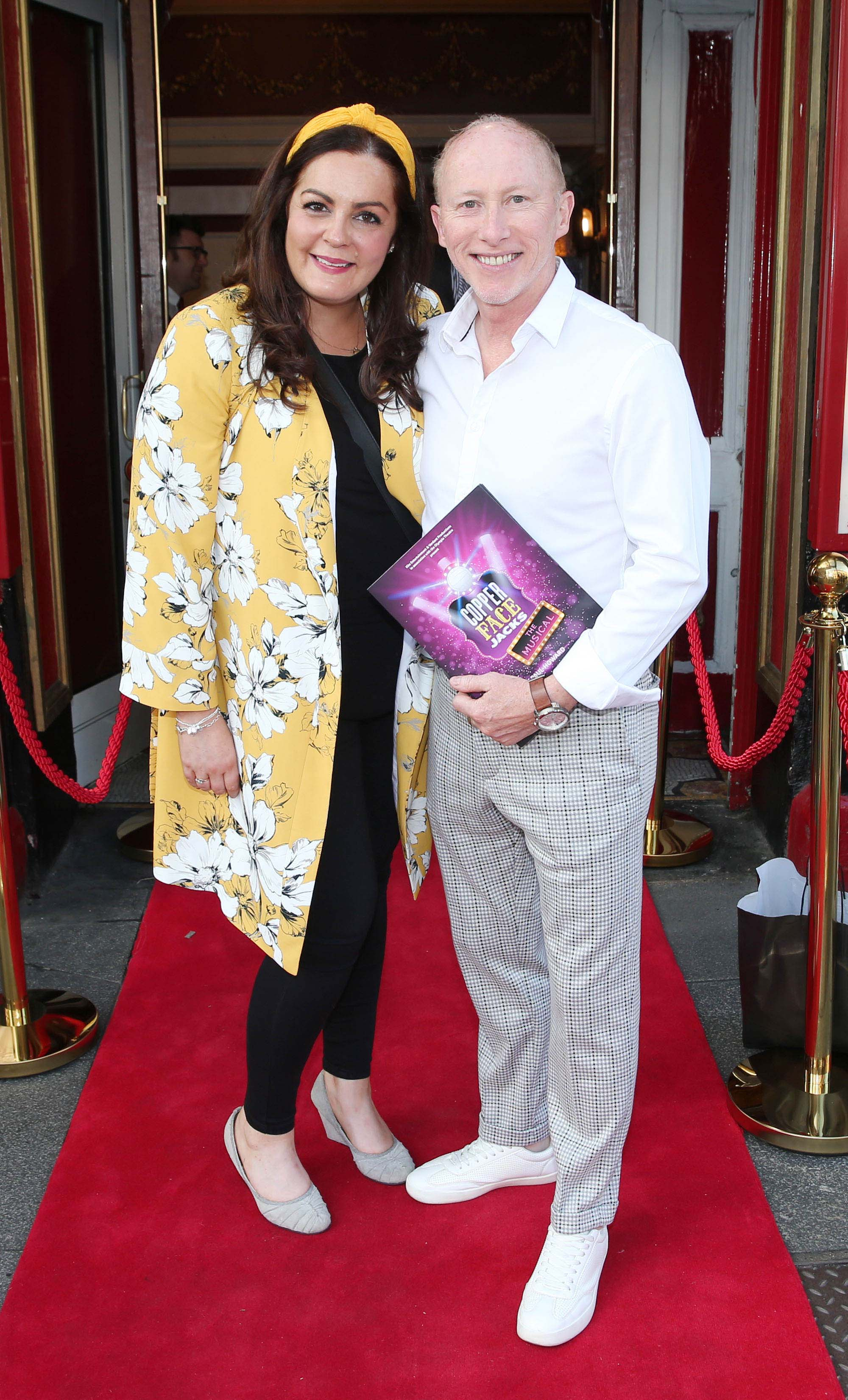 Gemma Cullen Kenny and Joe Conlon at the opening night of  Copper Face Jacks The Musical at  the Olympia Theatre which  runs until the 10th August.Photo: Leon Farrell/Photocall Ireland.