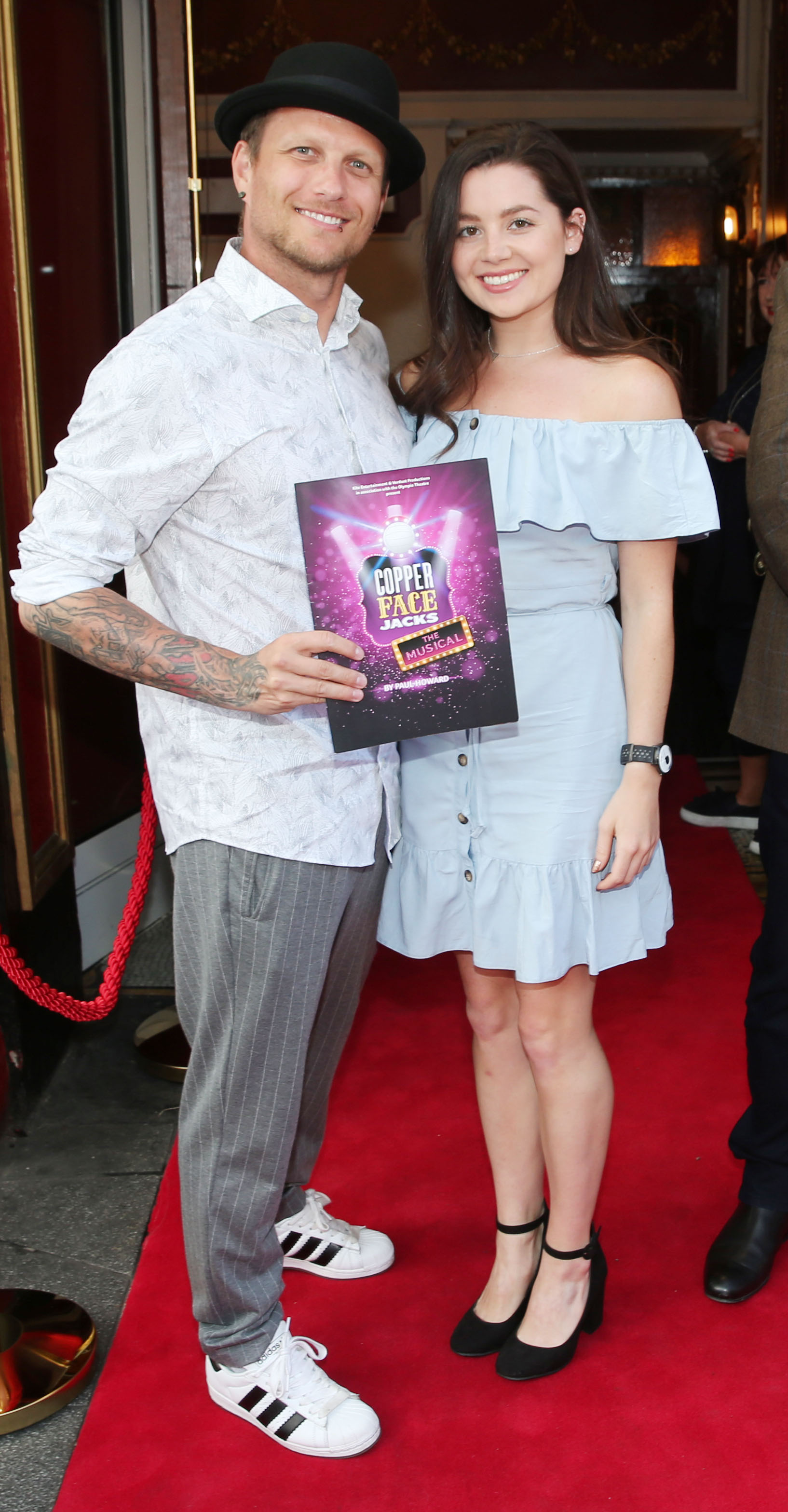 Chris Dylas and Ashling Brody  at the opening night of  Copper Face Jacks The Musical at the Olympia Theatre which  runs until the 10th August.Photo: Leon Farrell/Photocall Ireland.