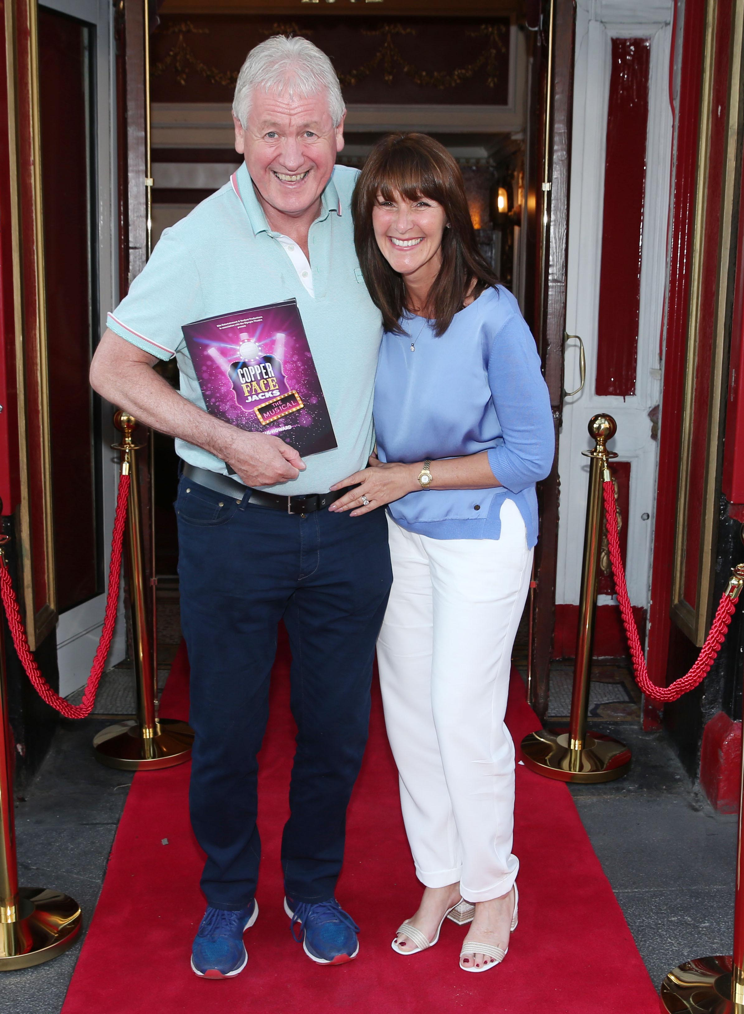 Cathal Jackson and his wife Paula  at the opening night of  Copper Face Jacks The Musicalat  the Olympia Theatre which  runs until the 10th August.Photo: Leon Farrell/Photocall Ireland.