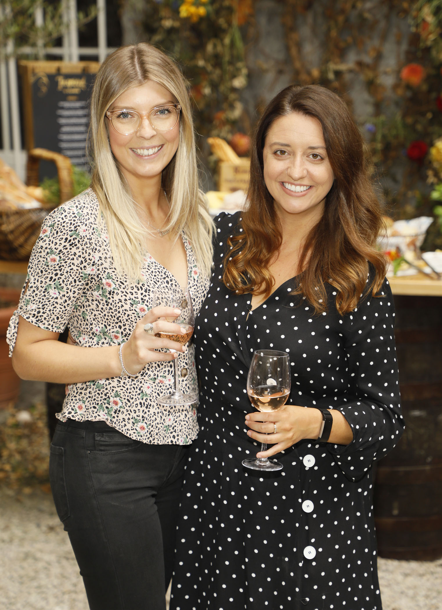 Claudia Langford and Jess Corcoran at the Centra 'Wines We Love' event in Dublin. Photo: Kieran Harnett