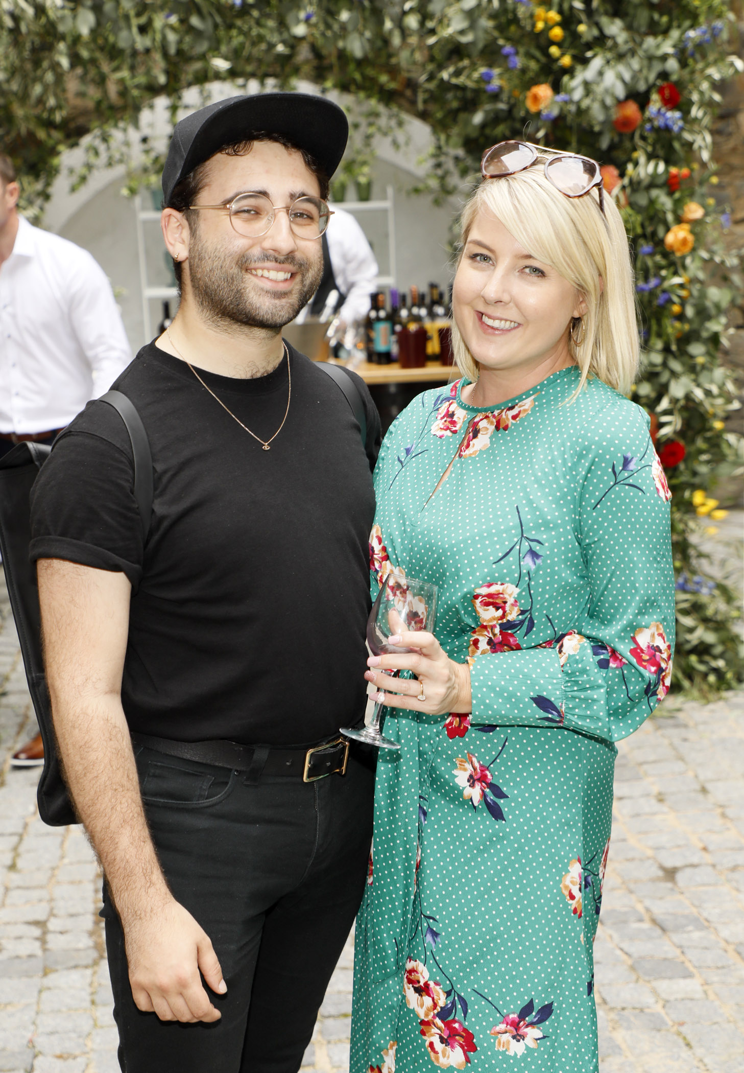 Conor Merriman and Rebecca Brady at the Centra 'Wines We Love' event in Dublin. Photo: Kieran Harnett