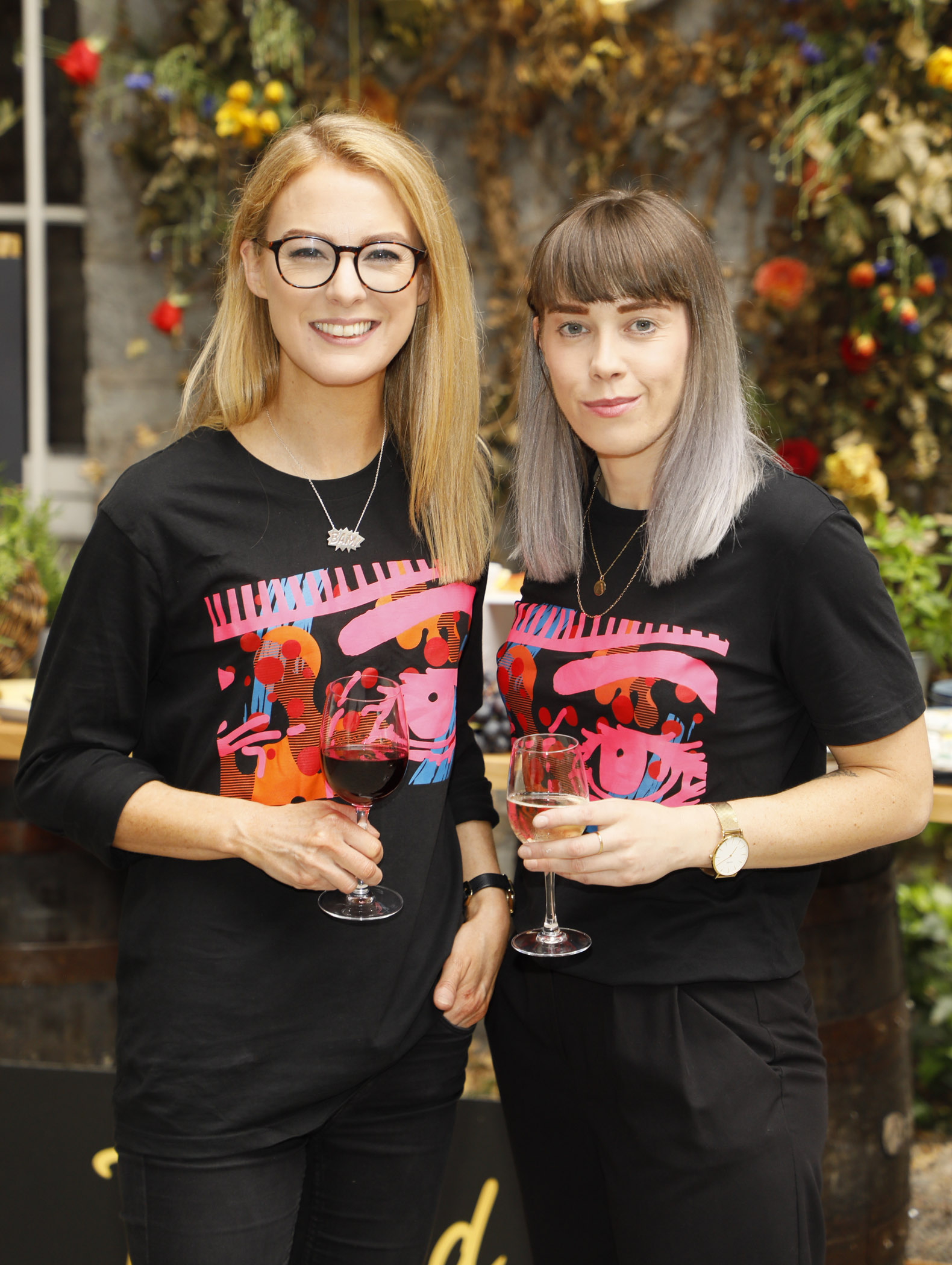 Jill Deering and Gillian Henderson at the Centra 'Wines We Love' event in Dublin. Photo: Kieran Harnett