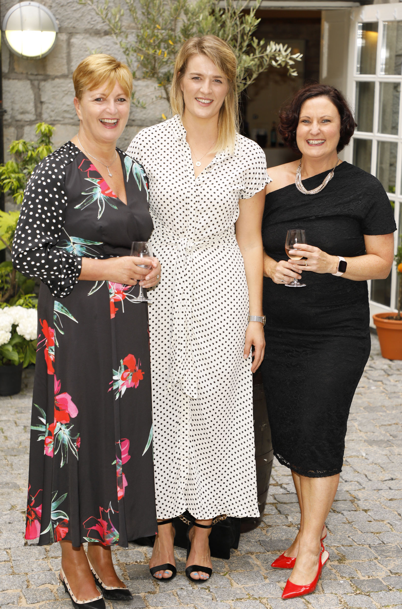 Kay Ryan, Cliodhna McCarthy and Edel Russell at the Centra 'Wines We Love' event in Dublin. Photo: Kieran Harnett