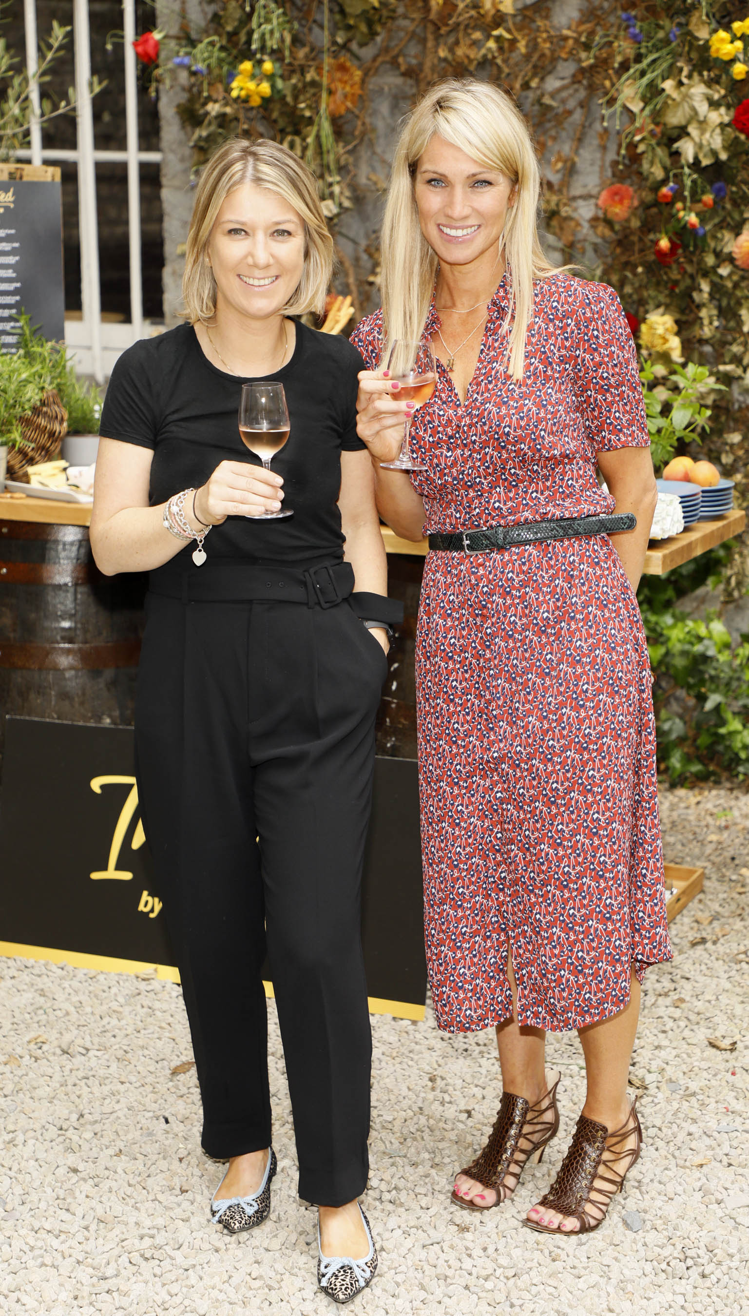 Niamh Skally and Deirdre O'Leary at the Centra 'Wines We Love' event in Dublin. Photo: Kieran Harnett