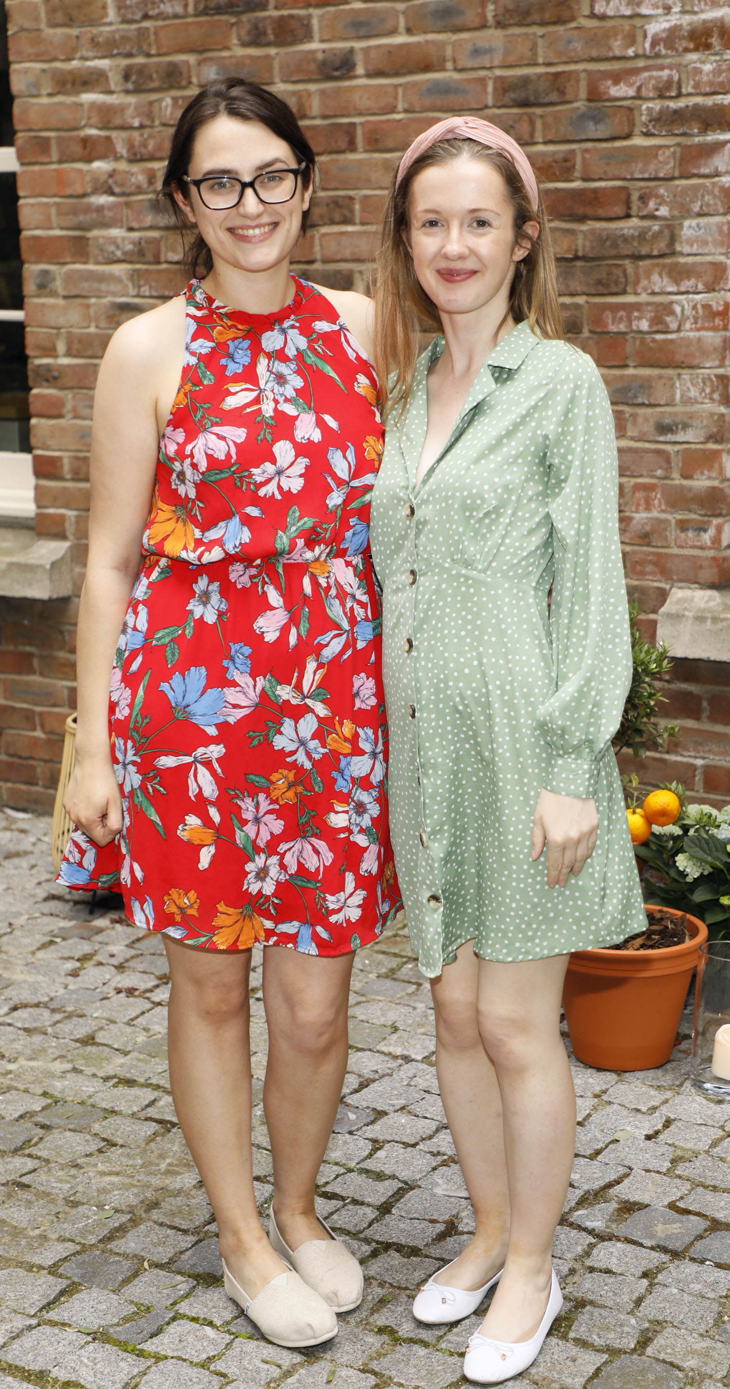 Roisin Healy and Caroline Boland at the Centra 'Wines We Love' event in Dublin. Photo: Kieran Harnett