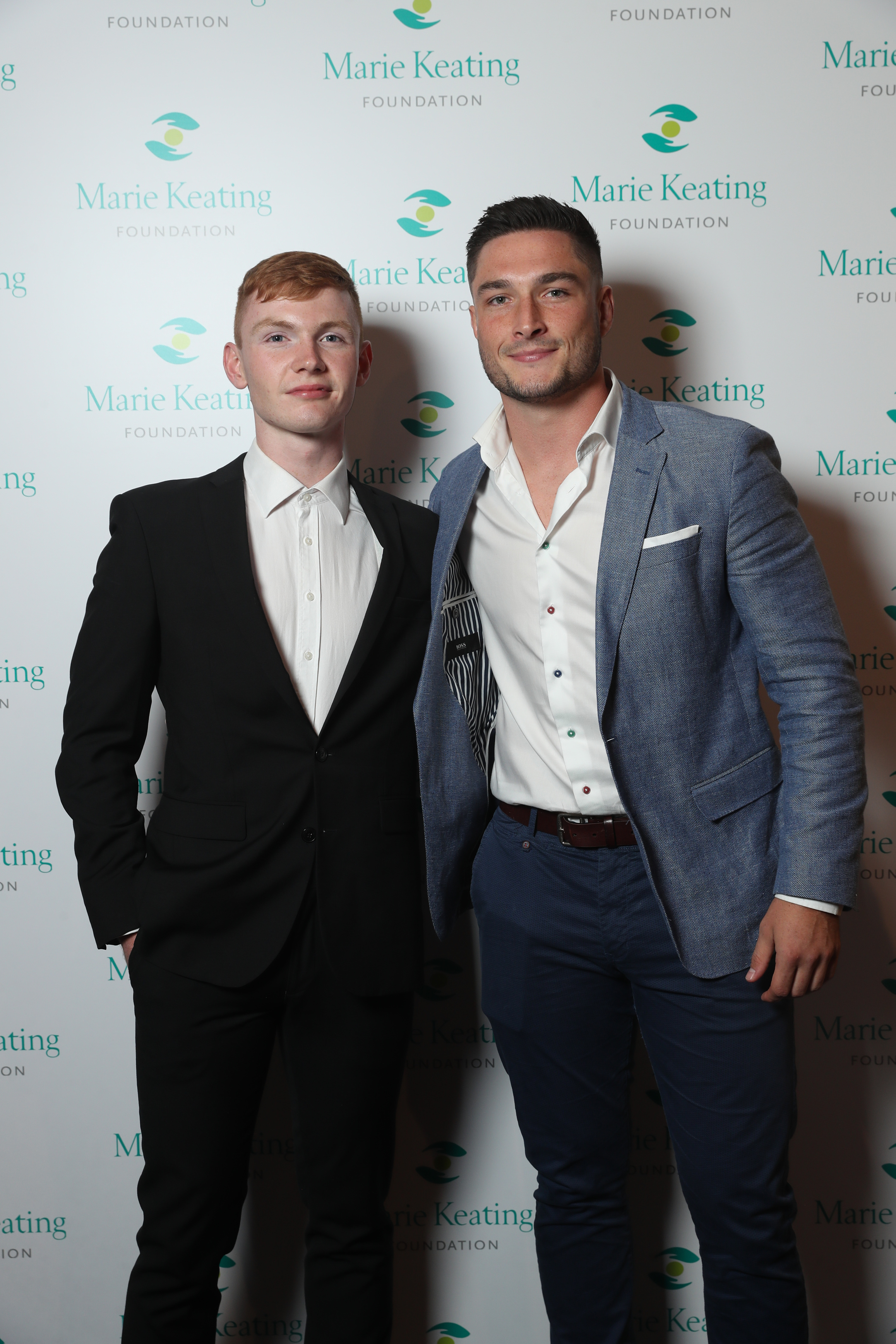 Pictured were Jack Keating and James Connelly at the Marie Keating Foundation Celebrity Golf Classic. Picture: Jason Clarke