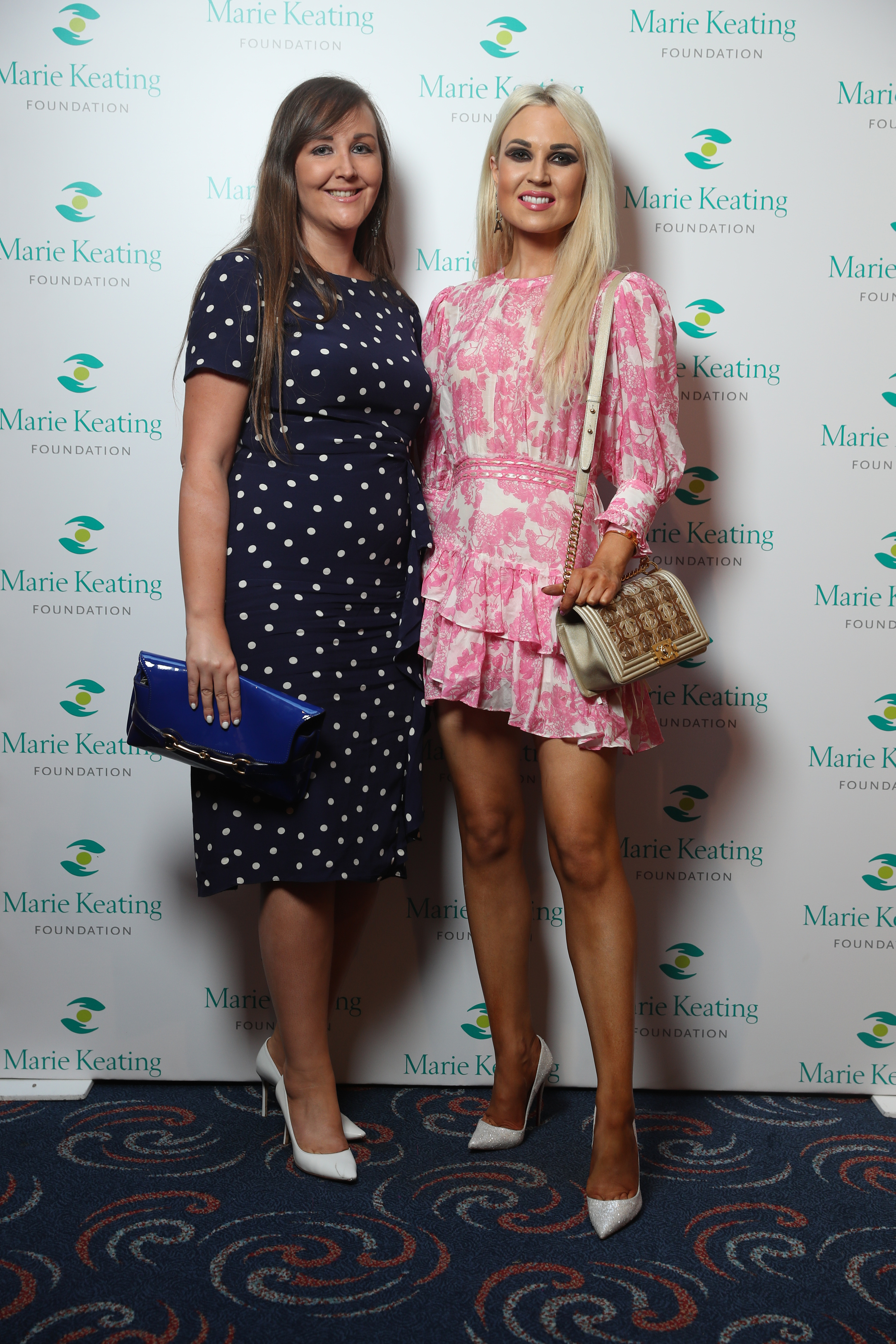 Mary Kelly and Regina Horan at the Marie Keating Foundation Celebrity Golf Classic. Picture: Jason Clarke