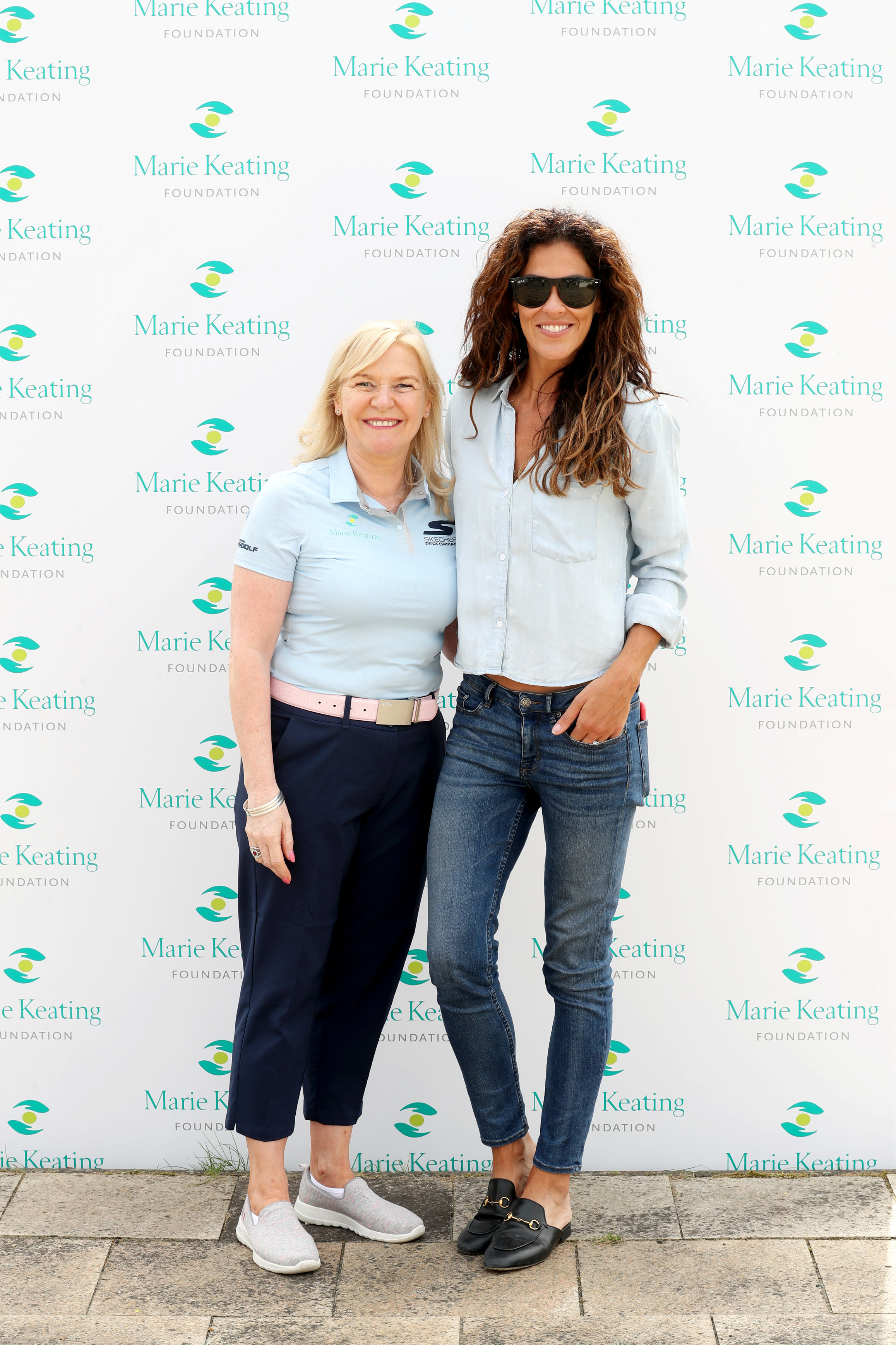 Pictured were Linda Keating and Glenda GIlson at The 2019 Marie Keating Foundation Celebrity Golf Classic. Picture: Jason Clarke