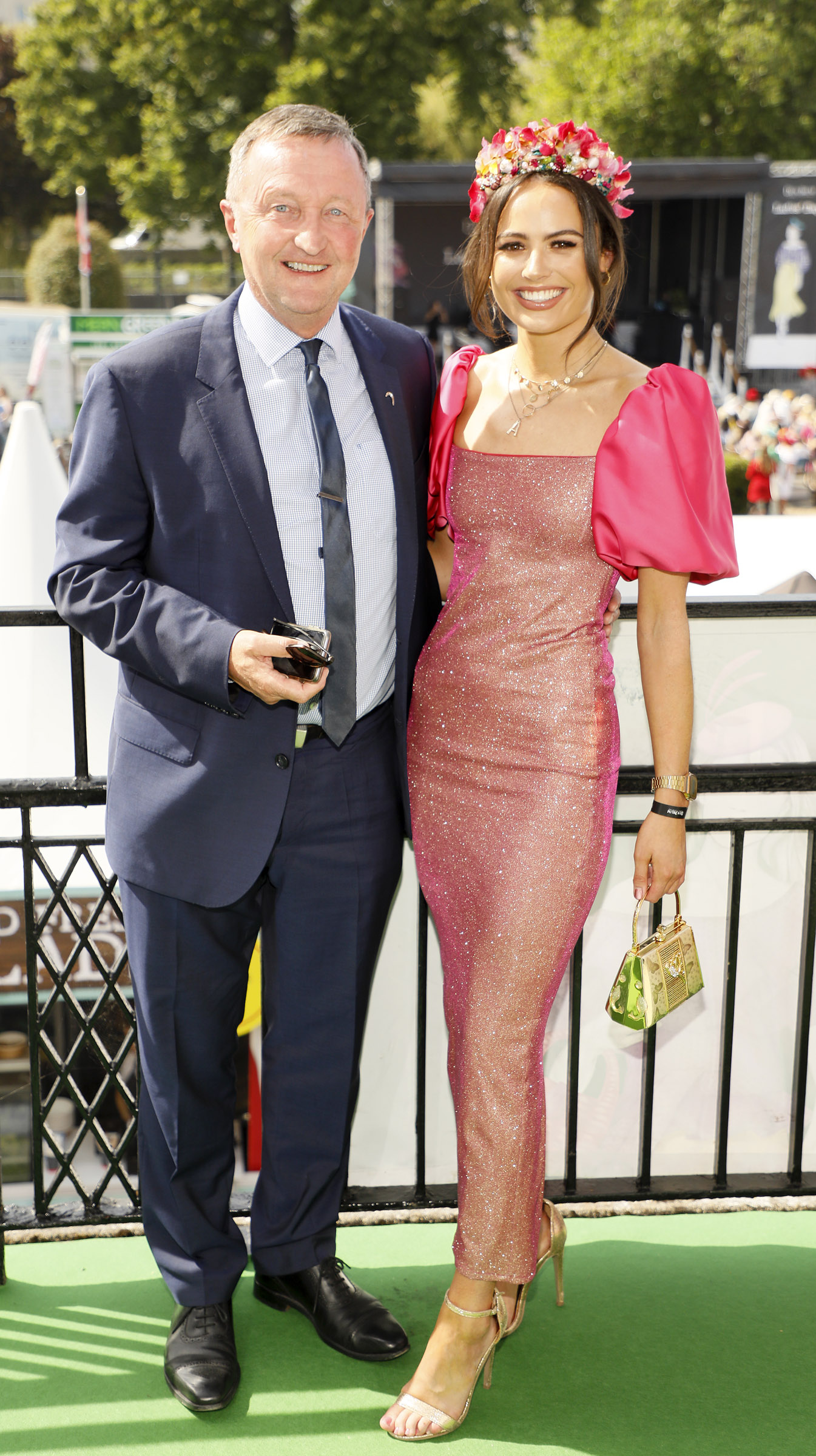 Don Nugent and Aisling Kavanagh at the Dundrum Town Centre Ladies' Day at the Dublin Horse Show in the RDS. Photo: Kieran Harnett