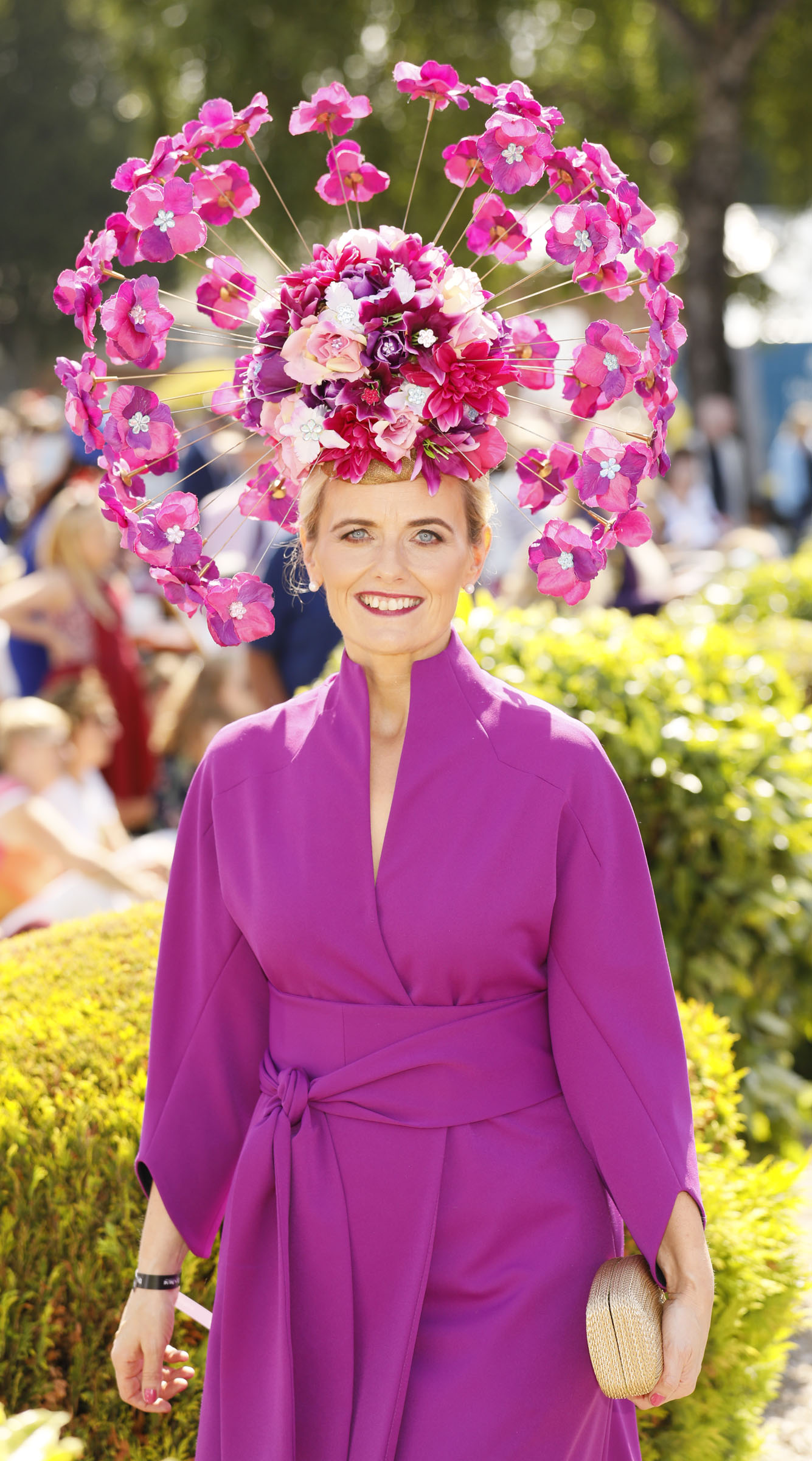 Emer Kilroy at the Dundrum Town Centre Ladies' Day at the Dublin Horse Show in the RDS. Photo: Kieran Harnett