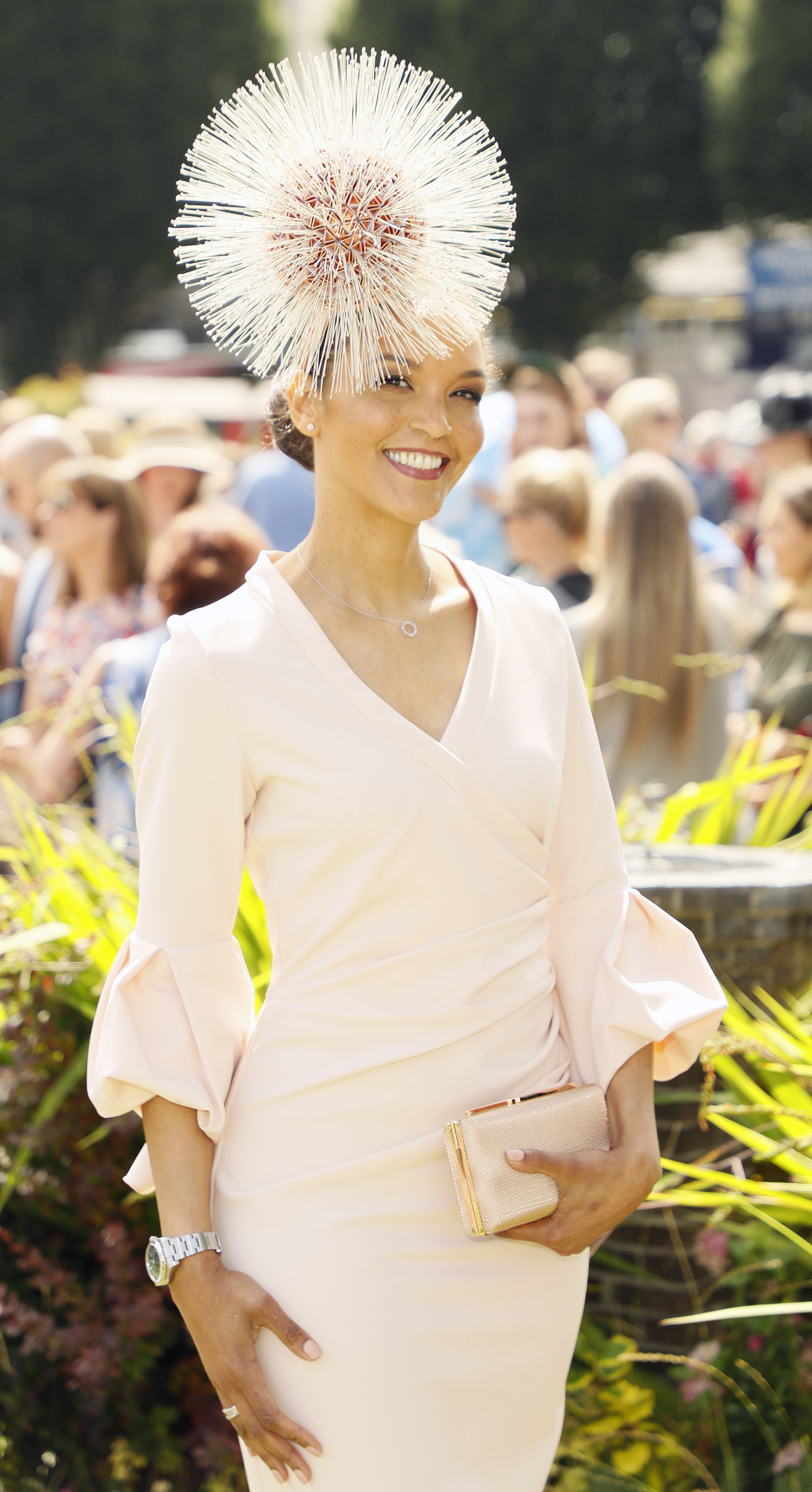 Linda Malone at the Dundrum Town Centre Ladies' Day at the Dublin Horse Show in the RDS. Photo: Kieran Harnett