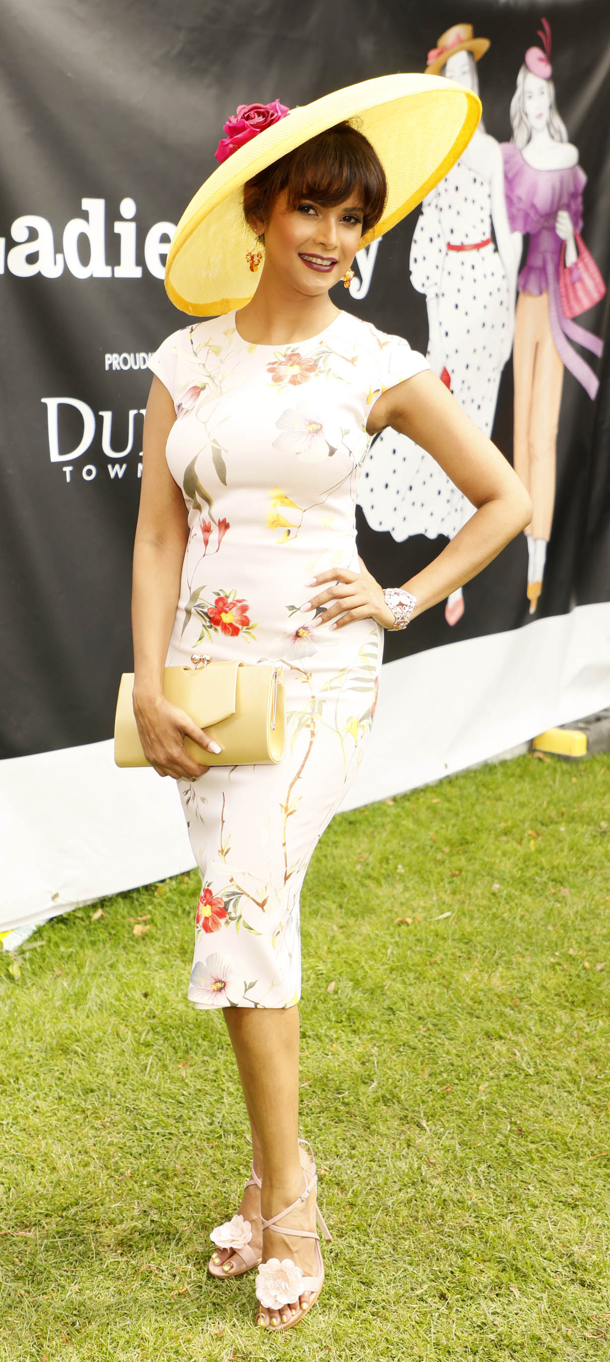 Maksuda Akhter at the Dundrum Town Centre Ladies' Day at the Dublin Horse Show in the RDS. Photo: Kieran Harnett
