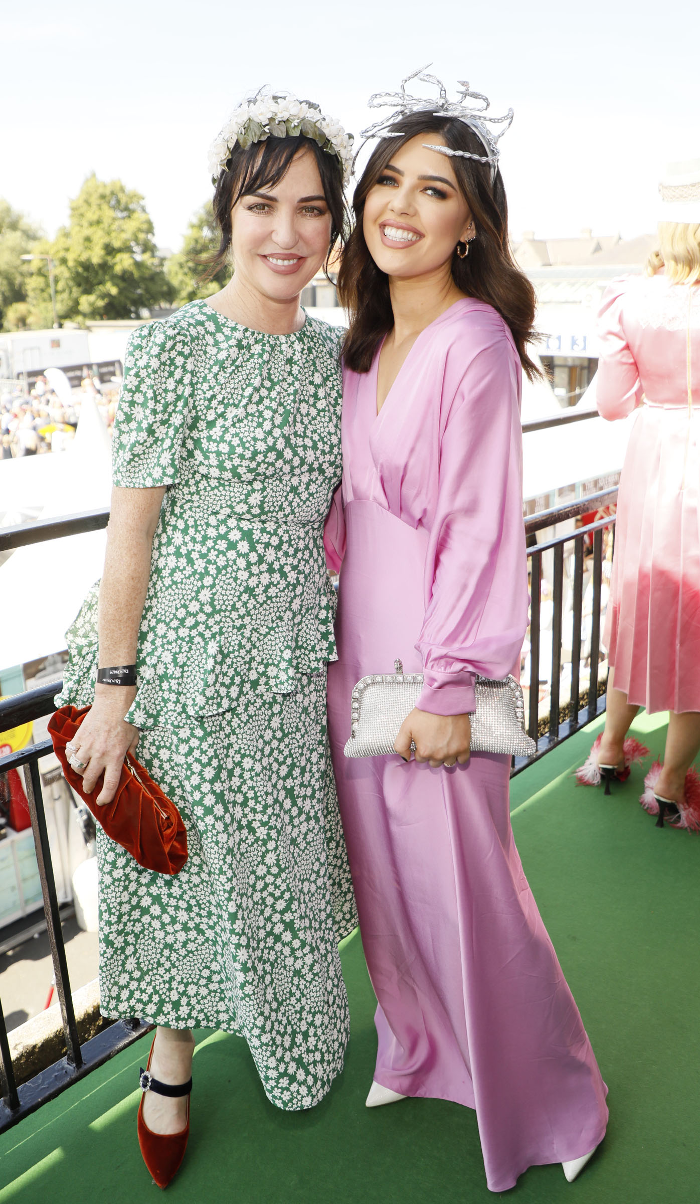 Morah and Bonnie Ryan at the Dundrum Town Centre Ladies' Day at the Dublin Horse Show in the RDS. Photo: Kieran Harnett