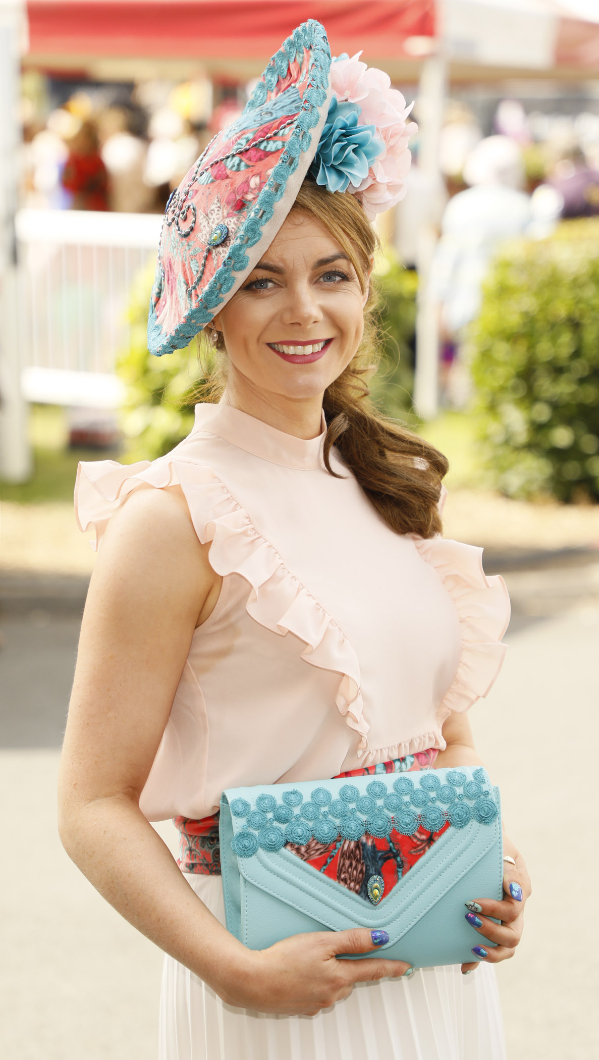 Stephanie McGrath at the Dundrum Town Centre Ladies' Day at the Dublin Horse Show in the RDS. Photo: Kieran Harnett