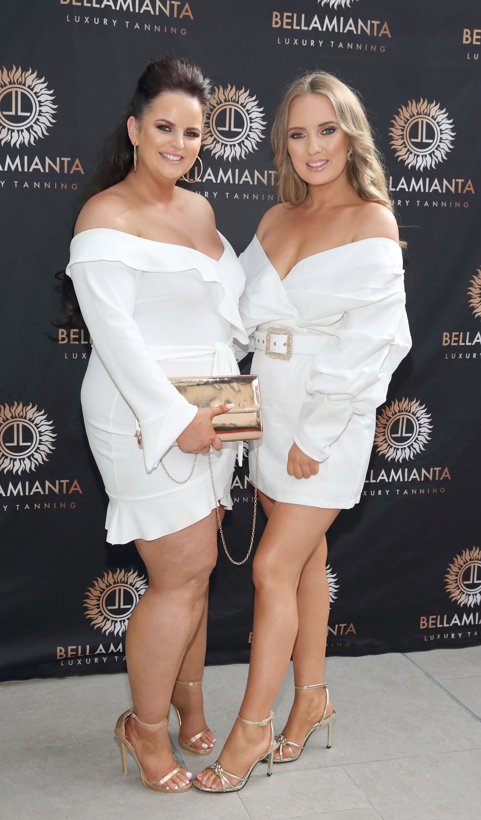 Becki Higgins and Becky Marlow pictured at the  Bellamianta Luxury Tan  Launch Party at Cafe En Seine,Dublin  Picture: Brian McEvoy