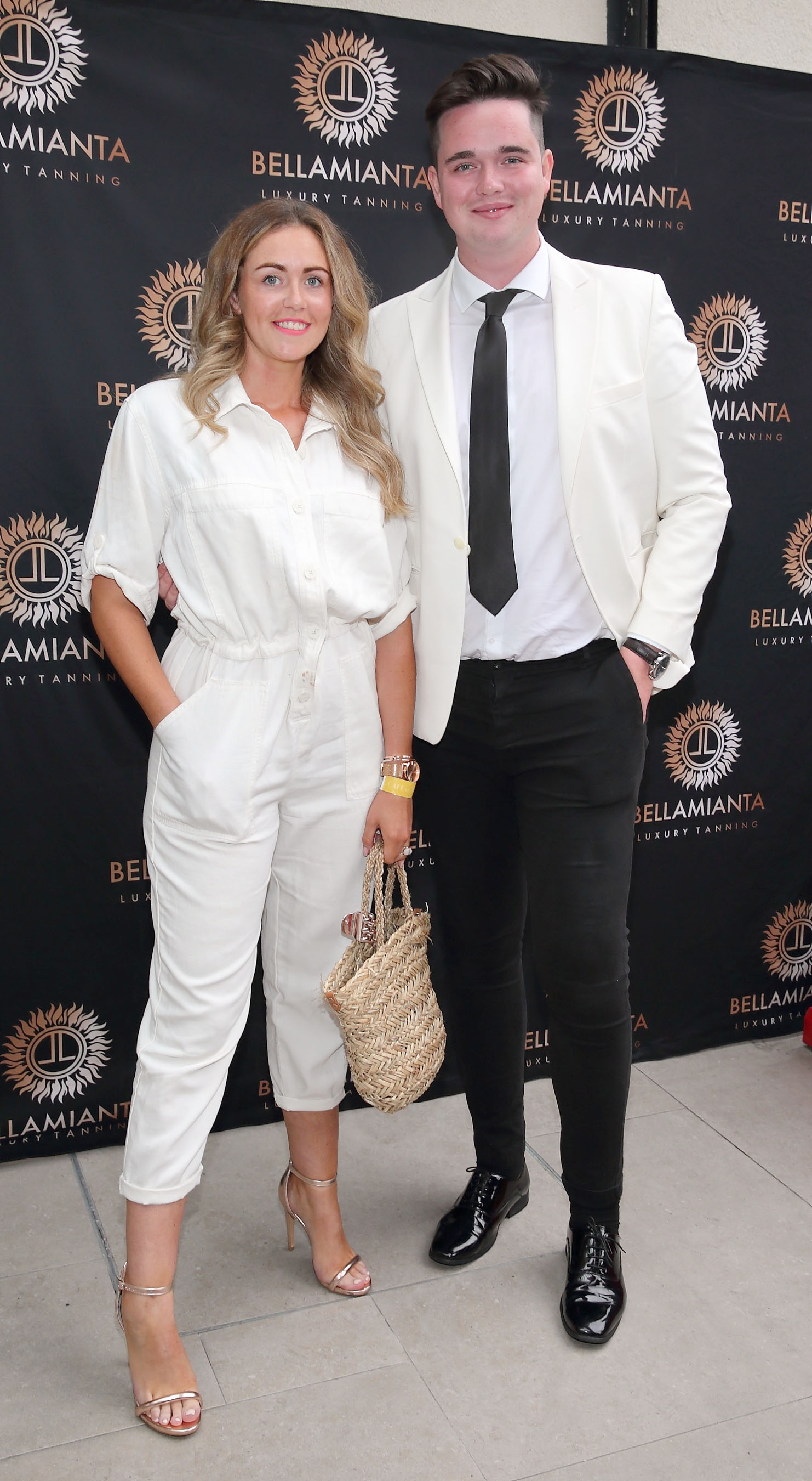 Sersh Meenaghan and Hugh O'Keeffe pictured at the  Bellamianta Luxury Tan  Launch Party at Cafe En Seine,Dublin  Picture: Brian McEvoy Photography