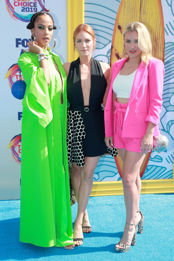 (L-R) Megalyn Echikunwoke, Brittany Snow and Emily Osment attend FOX's Teen Choice Awards 2019. (Photo by Rich Fury/Getty Images)