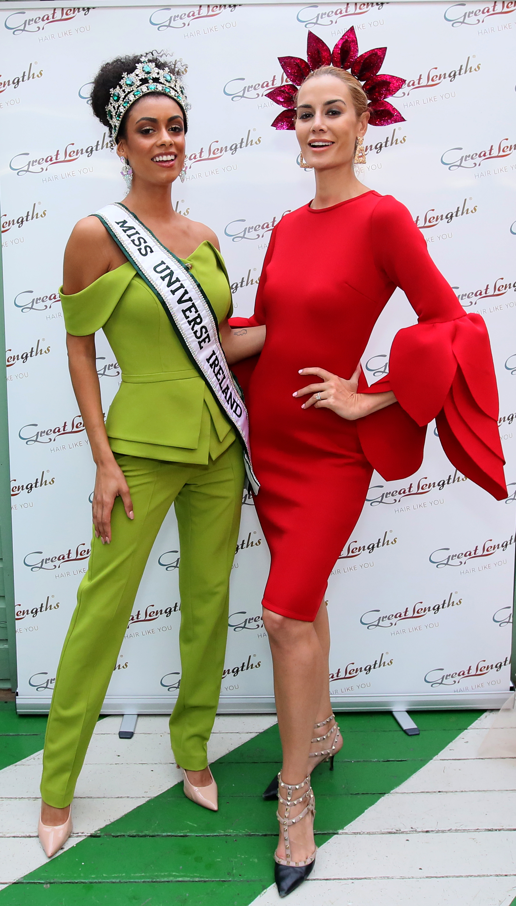 Pictured last night at the Great Lengths – The Mane Event at HOUSE Dublin, Leeson Street after the Dublin Horse Show are, from left, Miss Universe Ireland Fionnghuala O'Reilly and Britney Mason. PHOTO: Mark Stedman