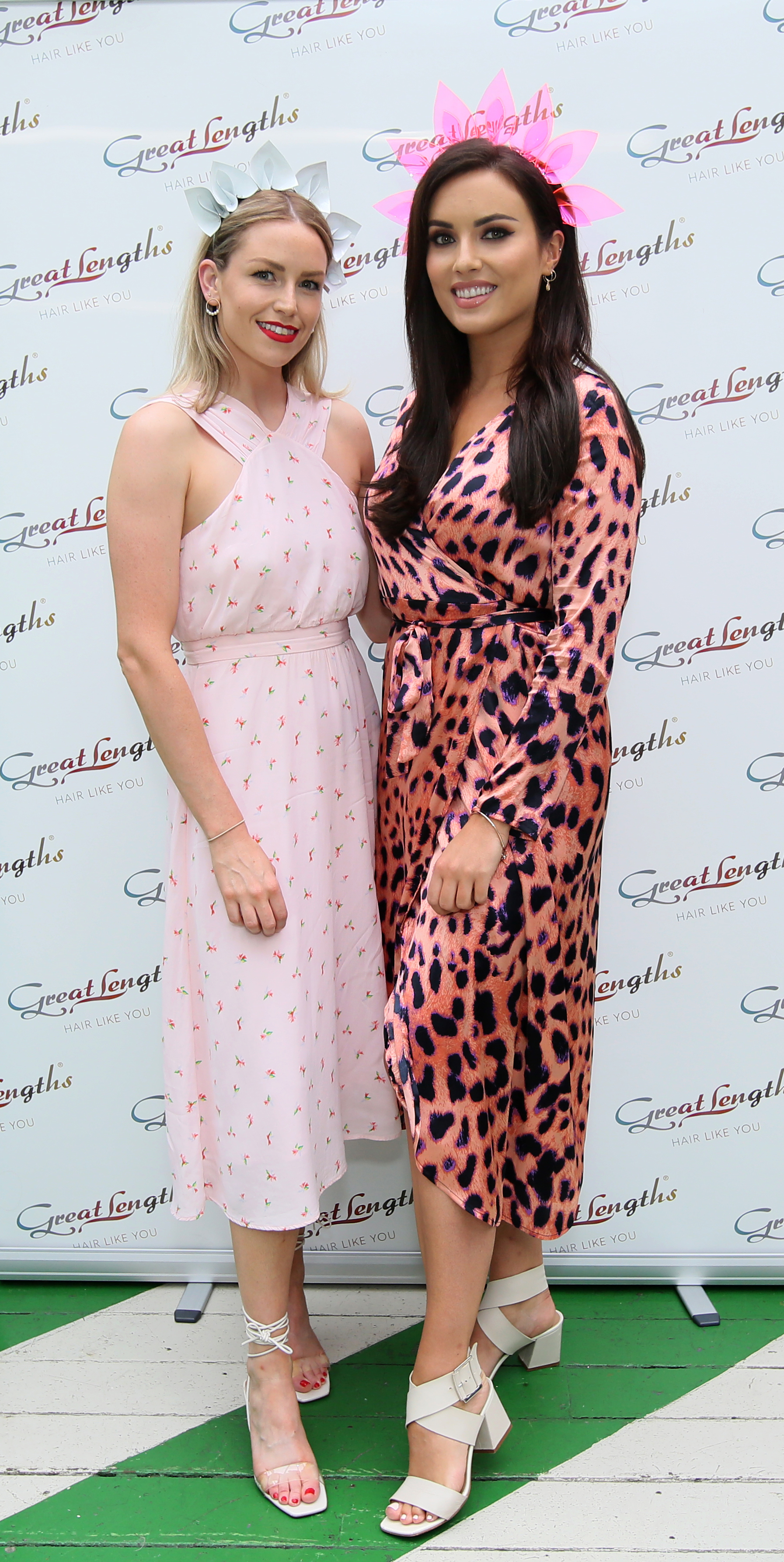 Pictured last night at the Great Lengths – The Mane Event at HOUSE Dublin, Leeson Street after the Dublin Horse Show are, from left,  Lia Stokes and Holly Carpenter. PHOTO: Mark Stedman
