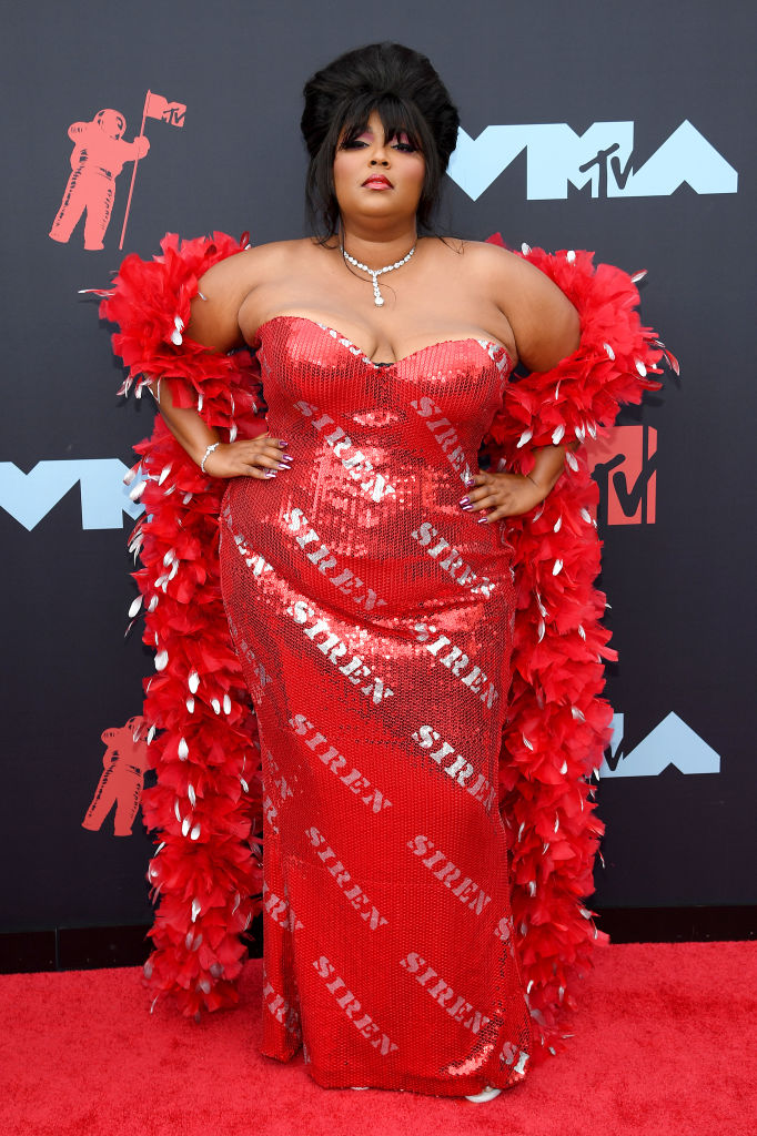 Lizzo attends the 2019 MTV Video Music Awards at Prudential Center on August 26, 2019 in Newark, New Jersey. (Photo by Dimitrios Kambouris/Getty Images)