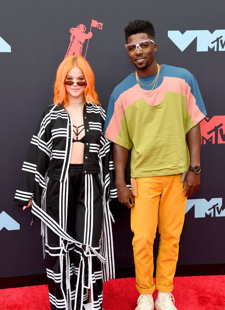 Sara Bivens and Calvit Hodge attends the 2019 MTV Video Music Awards at Prudential Center on August 26, 2019 in Newark, New Jersey. (Photo by Jamie McCarthy/Getty Images for MTV)