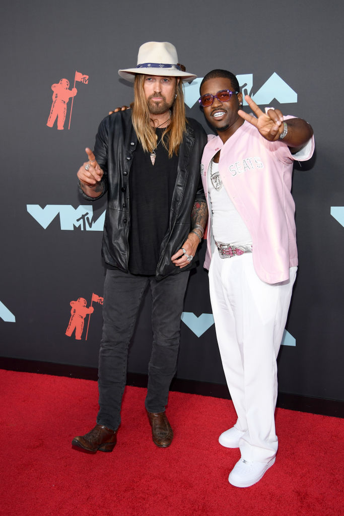 Billy Ray Cyrus (L) and A$AP Ferg attend the 2019 MTV Video Music Awards at Prudential Center on August 26, 2019 in Newark, New Jersey. (Photo by Dimitrios Kambouris/Getty Images)