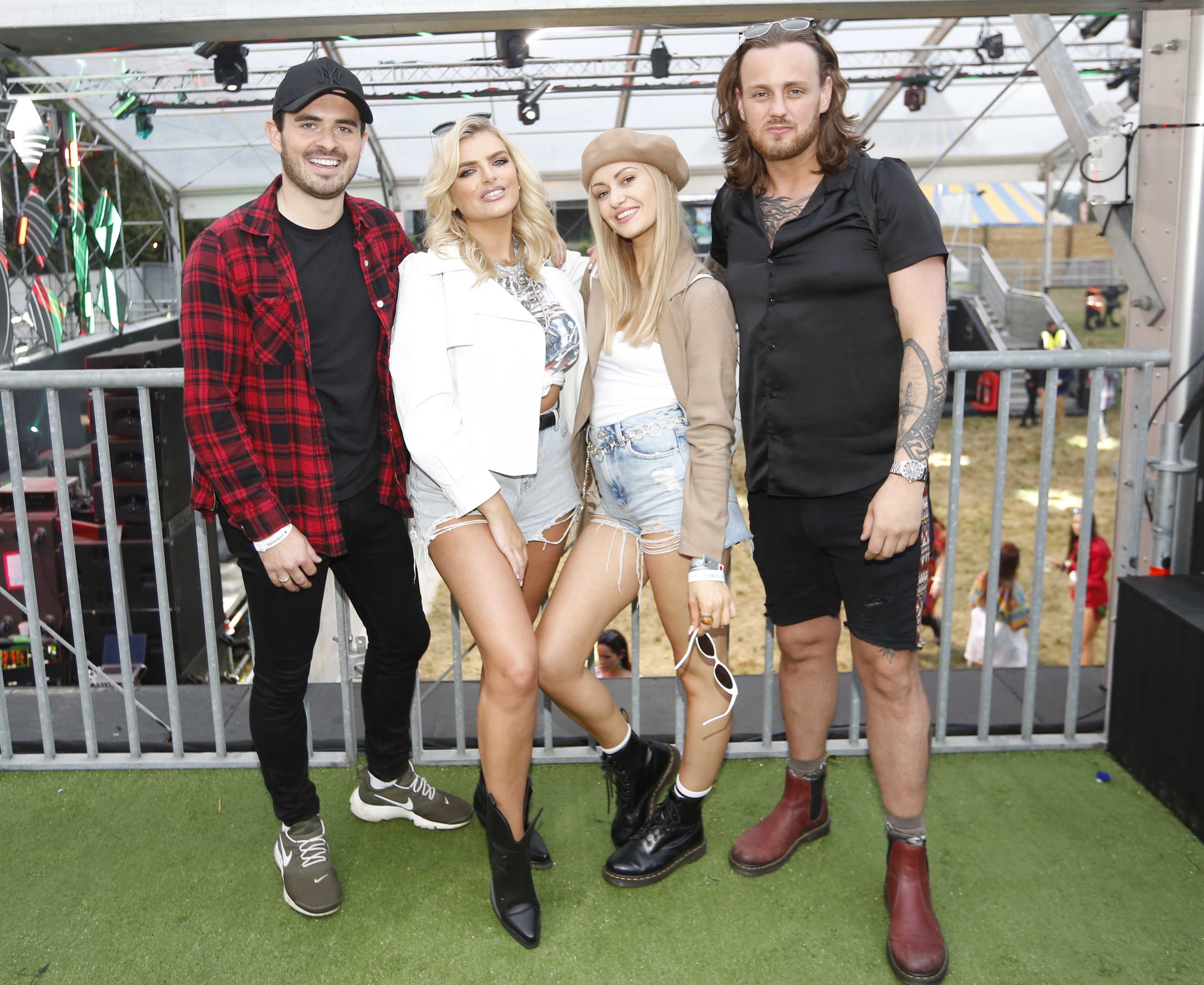 NO REPRO FEE 30/08/2019 Heineken Live Your Music Stage at Electric Picnic 2019. Pictured are (LtoR) Oisin Boland Ashley Kehoe & Fiona Killion Chris Mellon at the Heineken Live Your Music Stage at Electric Picnic 2019. This year's area is an enormous structure on two levels, with a glass roof that will keep festival-goers dry but let them dance beneath the sun and stars! The immersive and interactive lightshow has been reimagined for 2019 which, combined with the state-of-the-art soundsystem, make Live Your Music the most impressive festival stage in the country. Photo: Sasko Lazarov/Phorocall Ireland