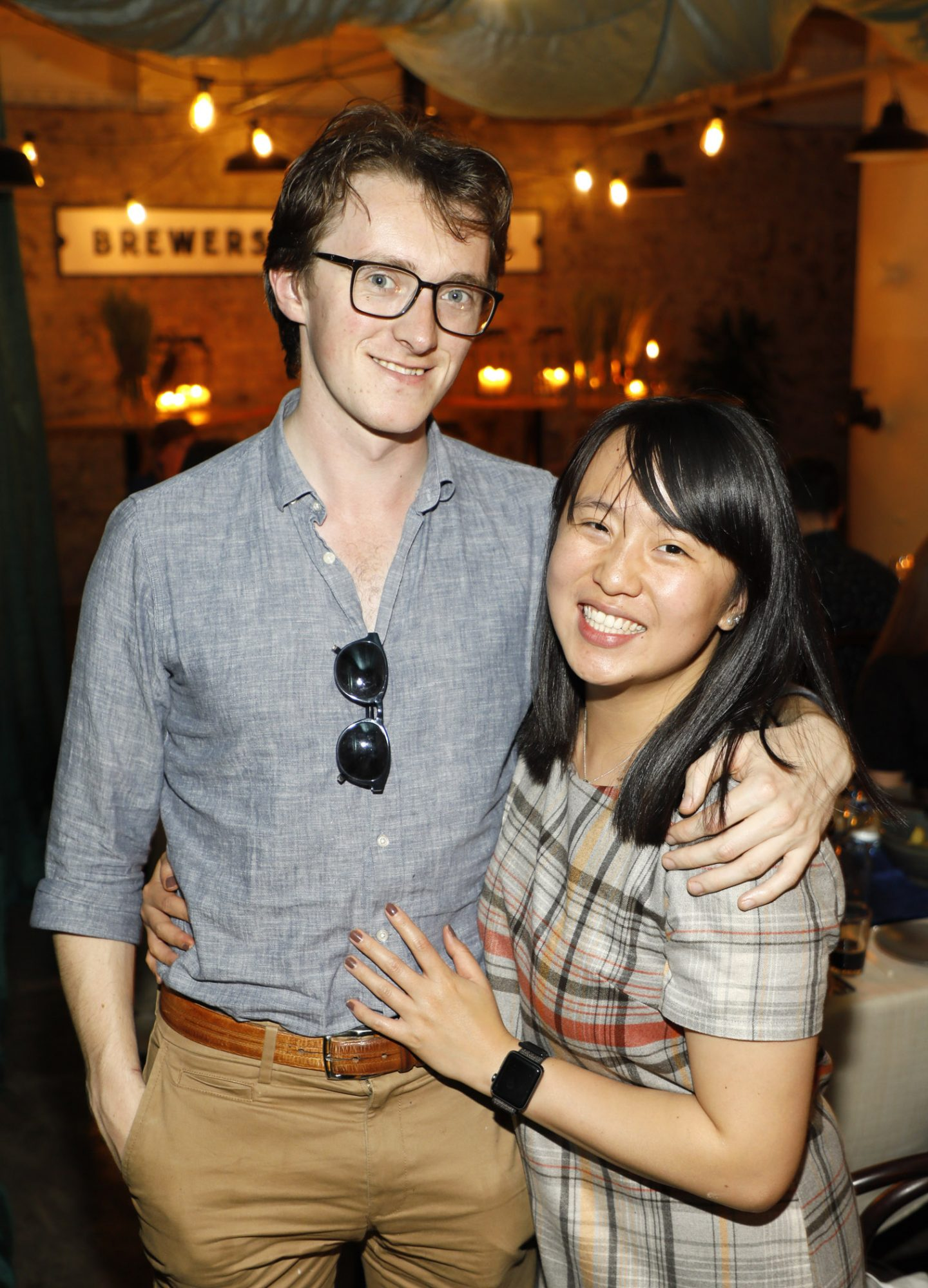 Diarmuid O'Maolalai and Christy Chan at Guinness Storehouse Seafest supper club. Photo: Kieran Harnett.