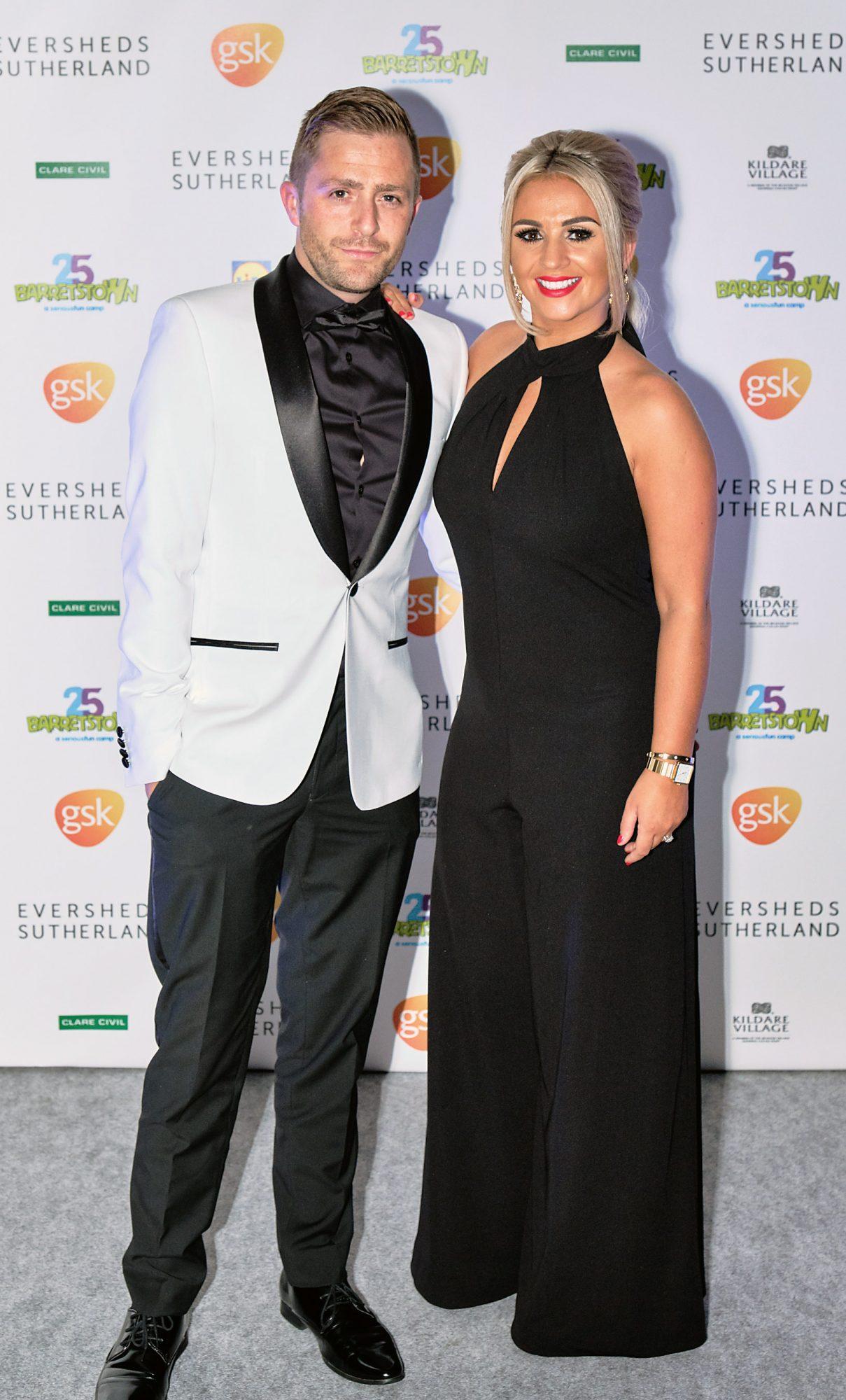 George McMahon and wife Rachel at the Barretstown 25th Anniversary Gala Ball at the RDS, Ballsbridge, Dublin.  Pictures: Cathal Mac an Bheatha