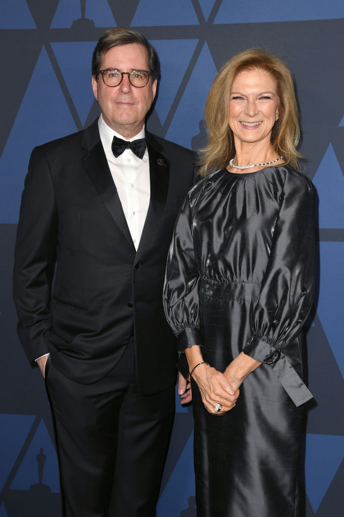 Academy of Motion Picture Arts and Sciences President David Rubin and Dawn Hudson attend the Academy Of Motion Picture Arts And Sciences' 11th Annual Governors Awards at The Ray Dolby Ballroom at Hollywood & Highland Center on October 27, 2019 in Hollywood, California. (Photo by Kevin Winter/Getty Images)