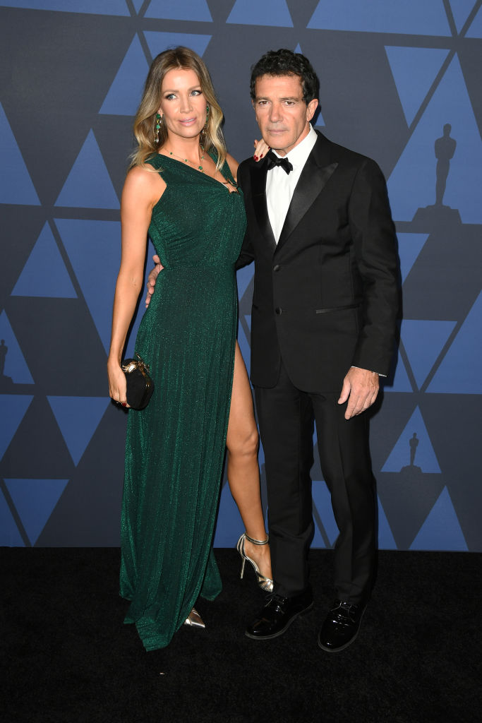 Nicole Kimpel and Antonio Banderas attend the Academy Of Motion Picture Arts And Sciences' 11th Annual Governors Awards at The Ray Dolby Ballroom at Hollywood & Highland Center on October 27, 2019 in Hollywood, California. (Photo by Kevin Winter/Getty Images)