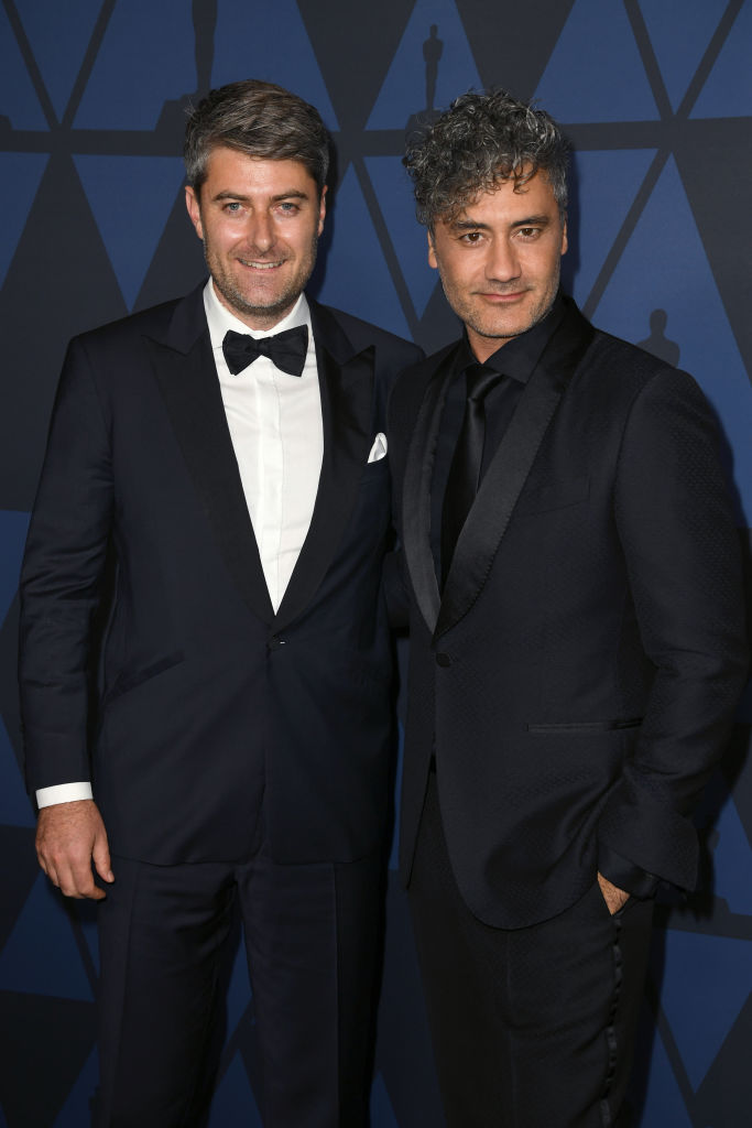 Carthew Neal and Taika Waititi attend the Academy Of Motion Picture Arts And Sciences' 11th Annual Governors Awards at The Ray Dolby Ballroom at Hollywood & Highland Center in Hollywood, California. (Photo by Kevin Winter/Getty Images)