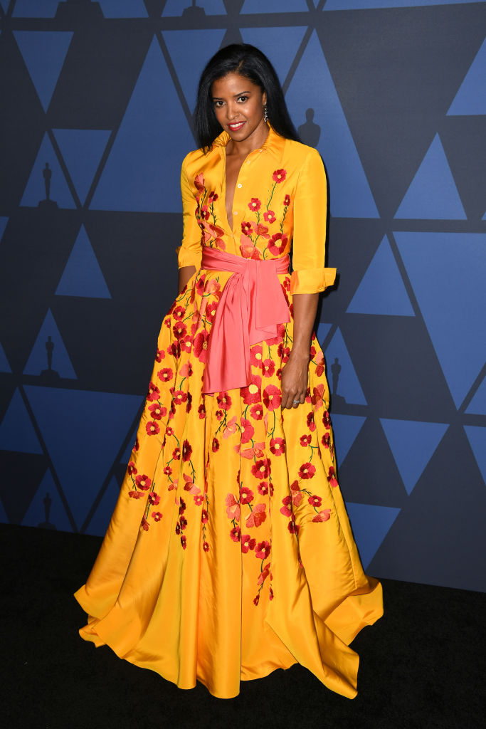 Renée Elise Goldsberry attends the Academy Of Motion Picture Arts And Sciences' 11th Annual Governors Awards at The Ray Dolby Ballroom at Hollywood & Highland Center in Hollywood, California. (Photo by Kevin Winter/Getty Images)