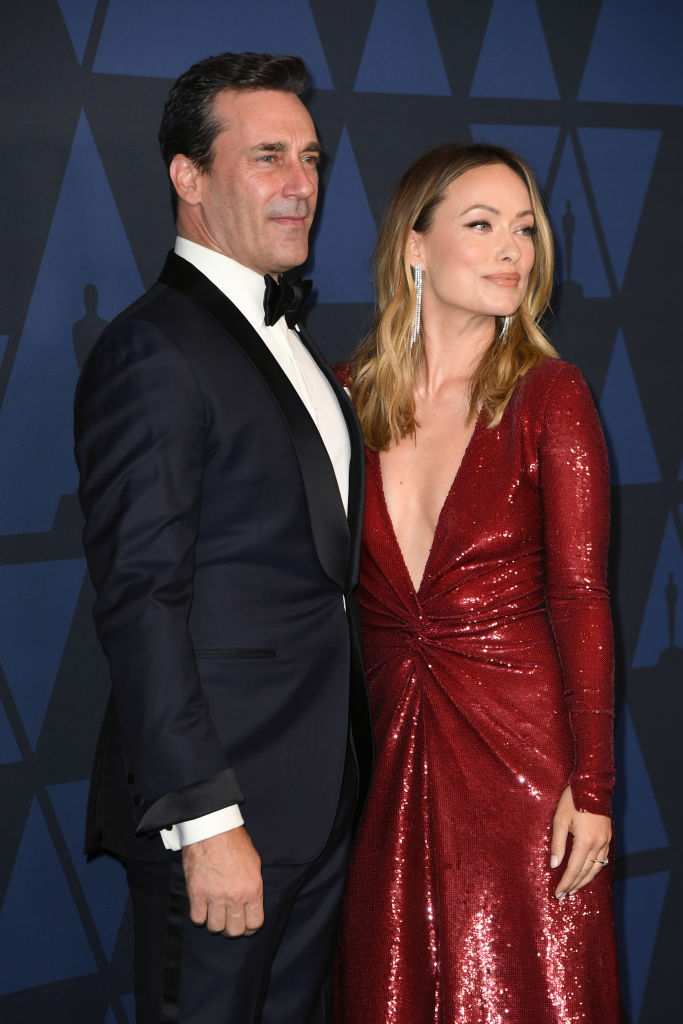 Jon Hamm and Olivia Wilde attend the Academy Of Motion Picture Arts And Sciences' 11th Annual Governors Awards at The Ray Dolby Ballroom at Hollywood & Highland Center in Hollywood, California. (Photo by Kevin Winter/Getty Images)