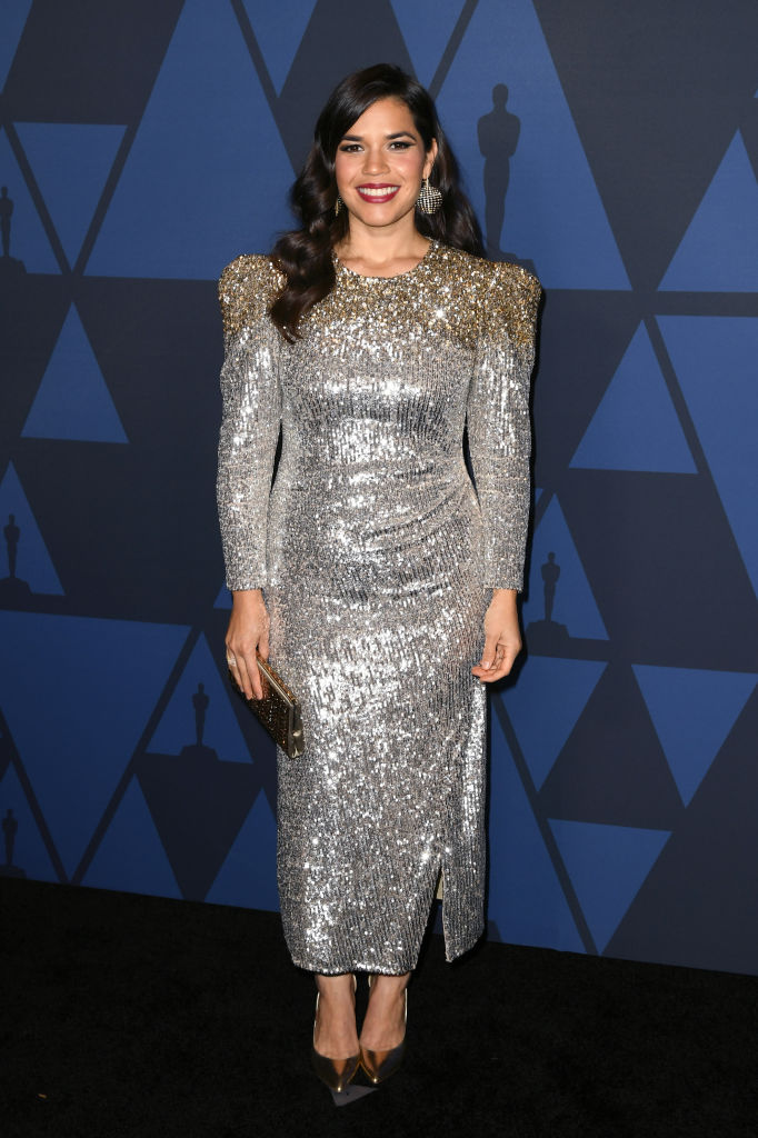 America Ferrera attends the Academy Of Motion Picture Arts And Sciences' 11th Annual Governors Awards at The Ray Dolby Ballroom at Hollywood & Highland Center in Hollywood, California. (Photo by Kevin Winter/Getty Images)