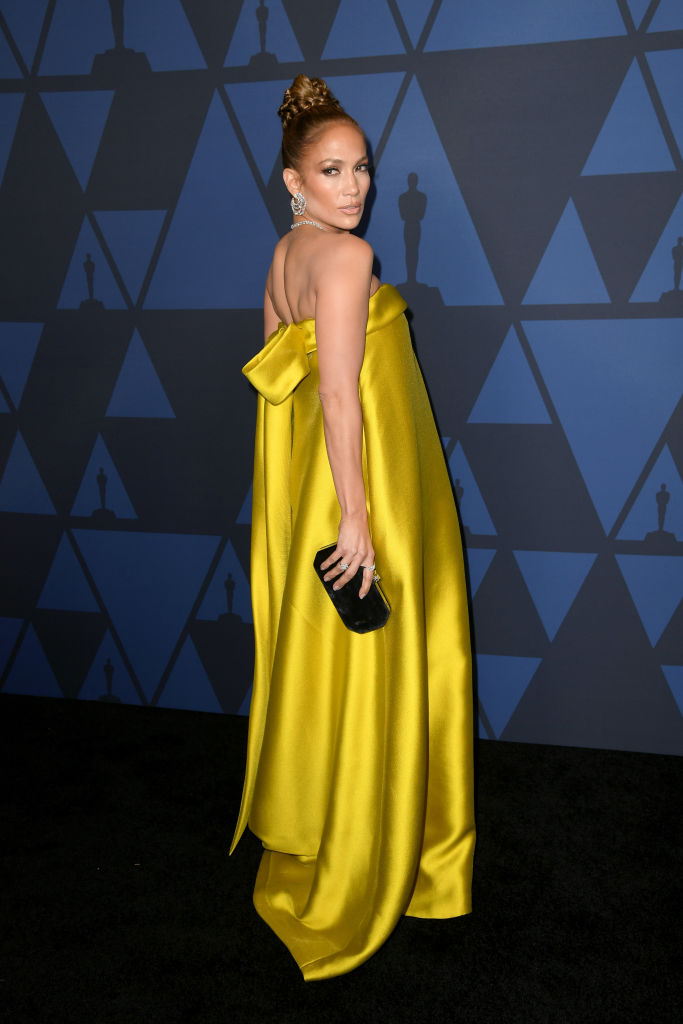 Jennifer Lopez attends the Academy Of Motion Picture Arts And Sciences' 11th Annual Governors Awards at The Ray Dolby Ballroom at Hollywood & Highland Center in Hollywood, California. (Photo by Kevin Winter/Getty Images)