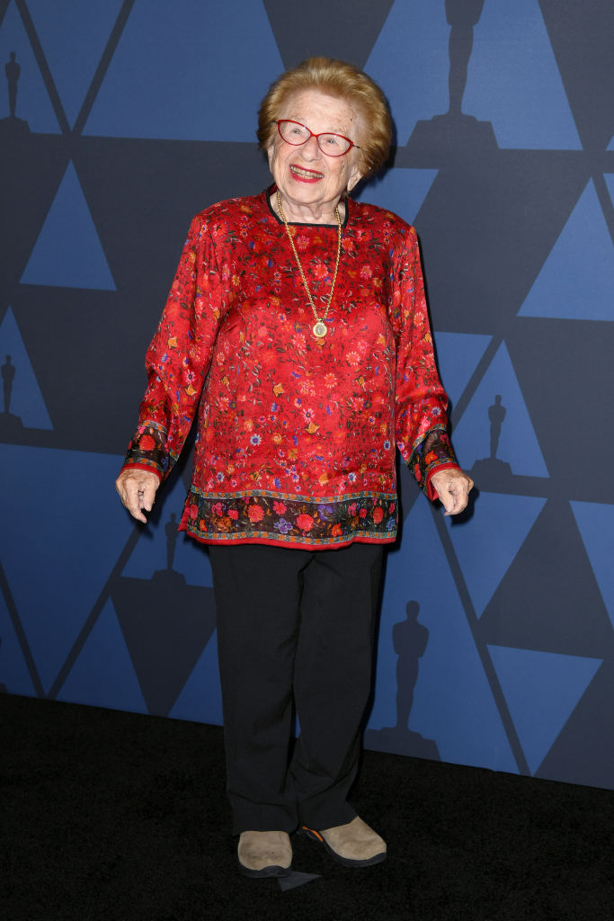 Ruth Westheimer attends the Academy Of Motion Picture Arts And Sciences' 11th Annual Governors Awards at The Ray Dolby Ballroom at Hollywood & Highland Center in Hollywood, California. (Photo by Kevin Winter/Getty Images)