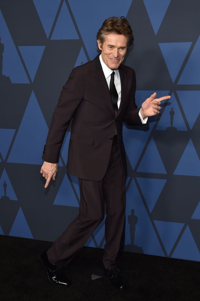 US actor Willem Dafoe arrives to attend the 11th Annual Governors Awards gala hosted by the Academy of Motion Picture Arts and Sciences at the Dolby Theater in Hollywood.  (Photo by Chris Delmas / AFP) (Photo by CHRIS DELMAS/AFP via Getty Images)