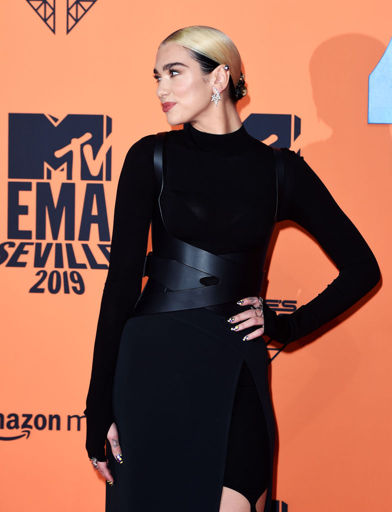 Dua Lipa attends the MTV EMAs 2019 at FIBES Conference and Exhibition Centre on November 03, 2019 in Seville, Spain. (Photo by Kate Green/Getty Images for MTV)