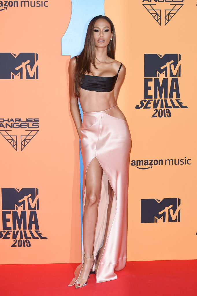 Joan Smalls attends the MTV EMAs 2019 at FIBES Conference and Exhibition Centre on November 03, 2019 in Seville, Spain. (Photo by Kate Green/Getty Images for MTV)