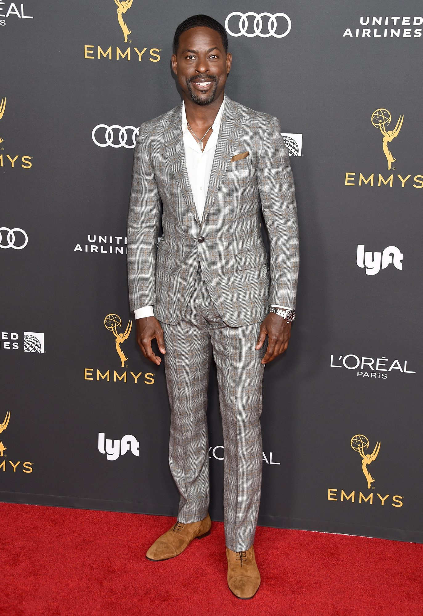 BEVERLY HILLS, CA - SEPTEMBER 20:  Sterling K. Brown arrives as the Television Academy Honors Emmy Nominated Performers at Wallis Annenberg Center for the Performing Arts on September 20, 2019 in Beverly Hills, California.  (Photo by Gregg DeGuire/Getty Images)