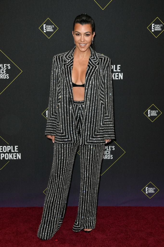 Kourtney Kardashian attends the 2019 E! People's Choice Awards at Barker Hangar on November 10, 2019 in Santa Monica, California. (Photo by Frazer Harrison/Getty Images)