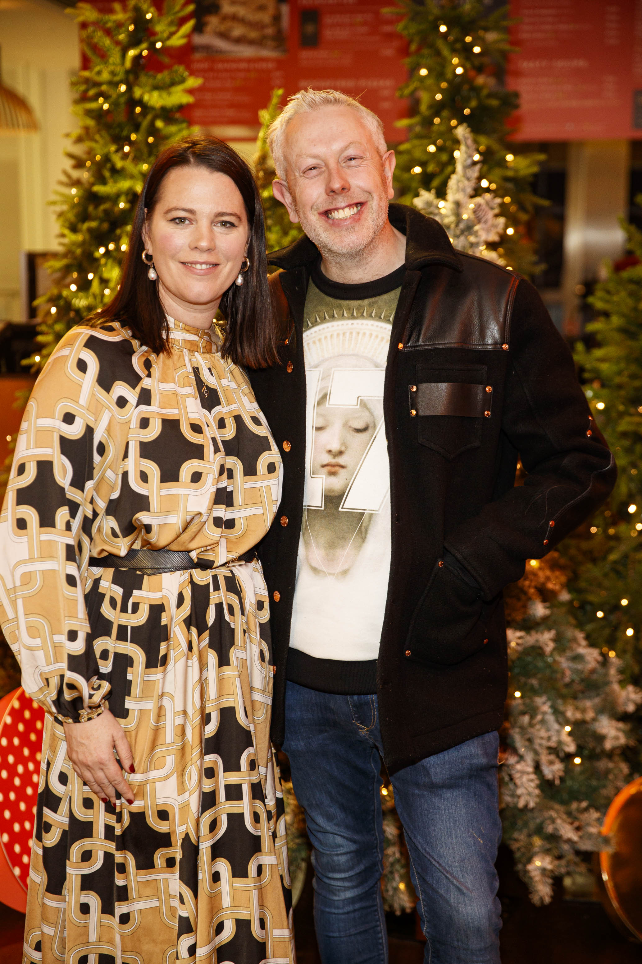 Corina Gaffey and Anthony Remedy pictured at the M&S Christmas Market inspired press show in the M&S Rooftop Café,  Grafton Street to celebrate the M&S Christmas food collection. Picture: Andres Poveda