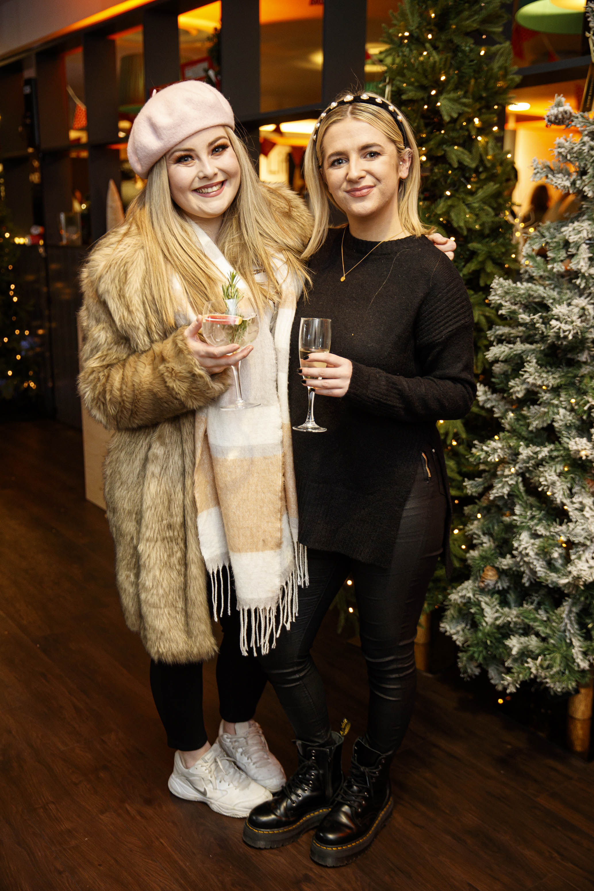 Claire Byrne and Olivia Hayes pictured at the M&S Christmas Market inspired press show in the M&S Rooftop Café,  Grafton Street to celebrate the M&S Christmas food collection. Picture: Andres Poveda