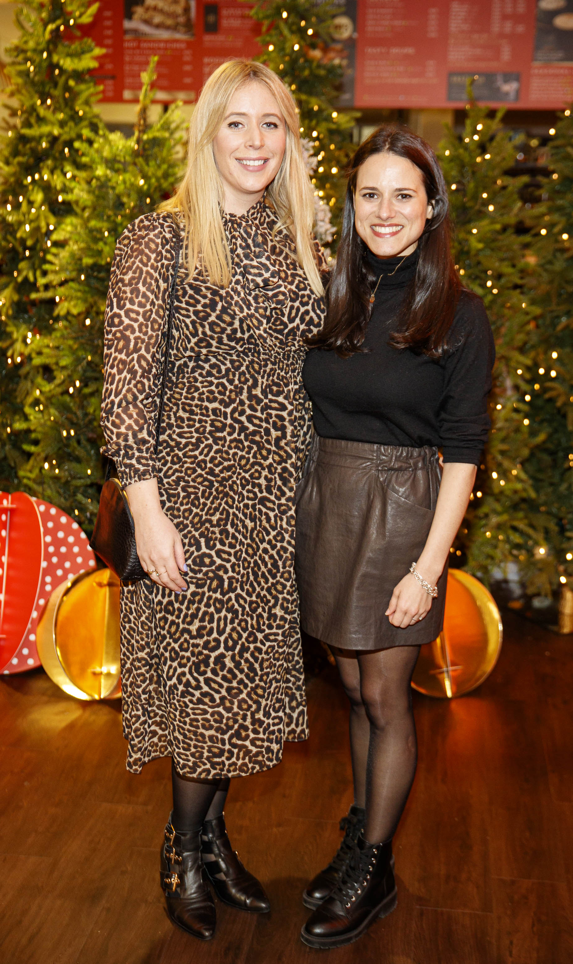 Dee Laffan and Elodie Noël pictured at the M&S Christmas Market inspired press show in the M&S Rooftop Café,  Grafton Street to celebrate the M&S Christmas food collection. Picture: Andres Poveda