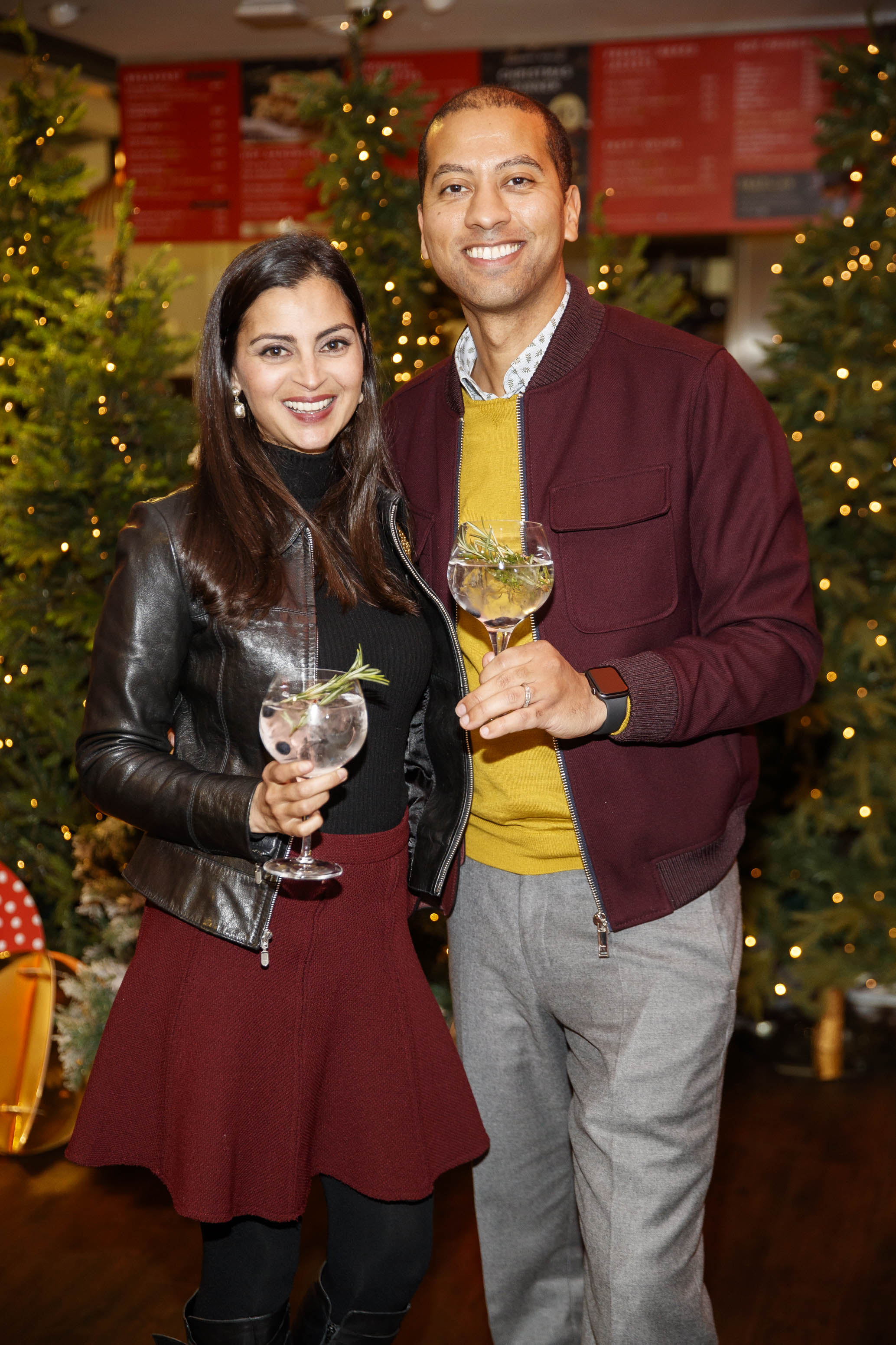 Nthose Naidoo and Sean Munsanje pictured at the M&S Christmas Market inspired press show in the M&S Rooftop Café,  Grafton Street to celebrate the M&S Christmas food collection. Picture: Andres Poveda