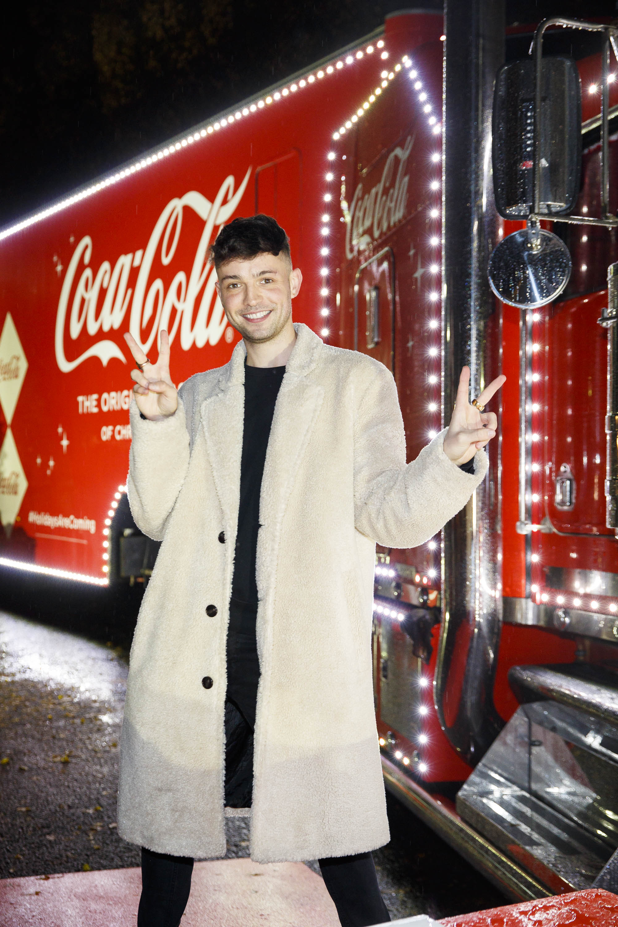 James Kavanagh pictured at Coca-Cola's Christmas Truck Tour launch which took place Monday 25th November at the RDS, Dublin. Photo: Andres Poveda