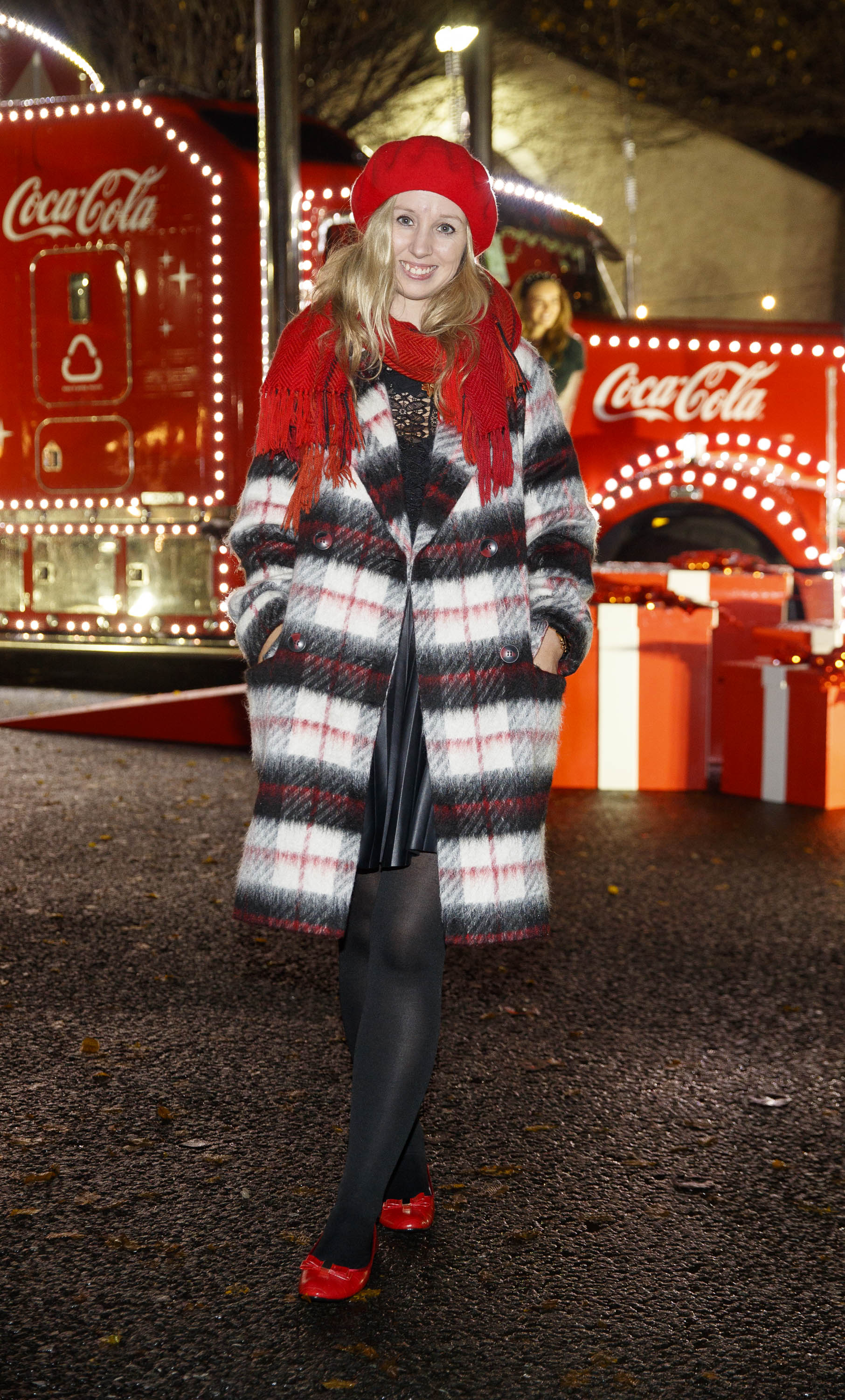 Claire Hyland pictured at Coca-Cola's Christmas Truck Tour launch which took place Monday 25th November at the RDS, Dublin. Photo: Andres Poveda