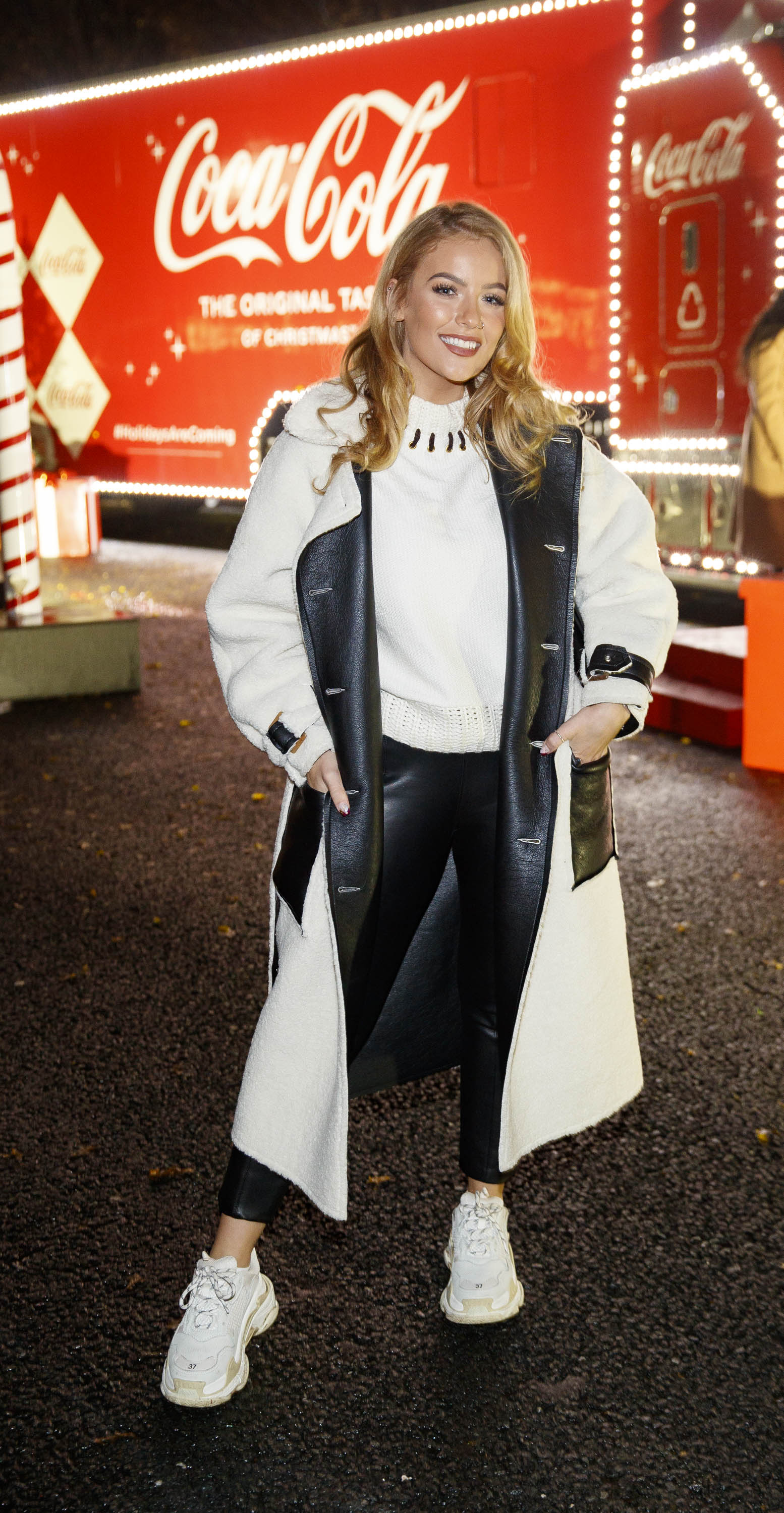 Melissa Riddell pictured at Coca-Cola's Christmas Truck Tour launch which took place Monday 25th November at the RDS, Dublin. Photo: Andres Poveda