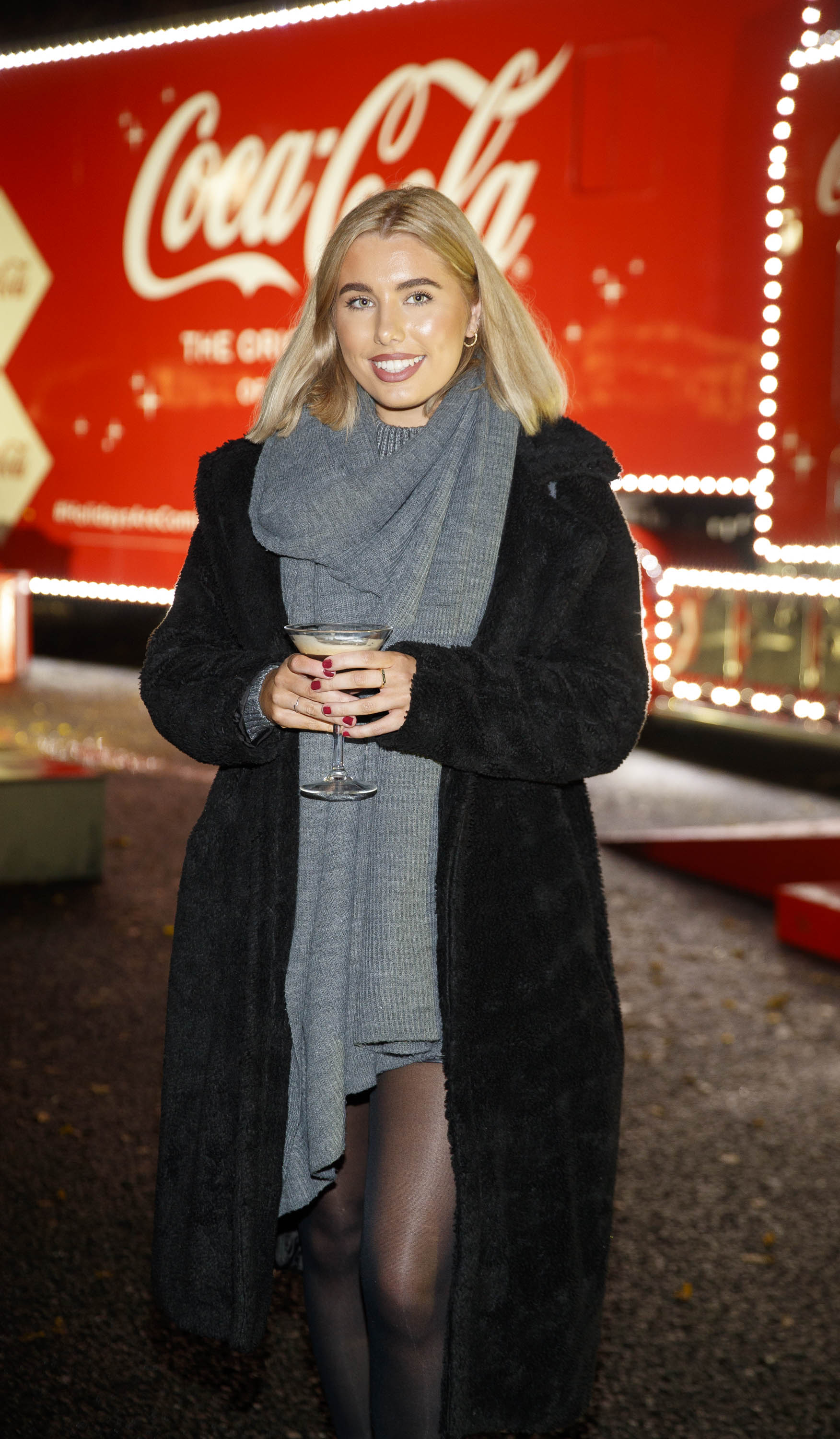 Katie Andrew pictured at Coca-Cola's Christmas Truck Tour launch which took place Monday 25th November at the RDS, Dublin. Photo: Andres Poveda